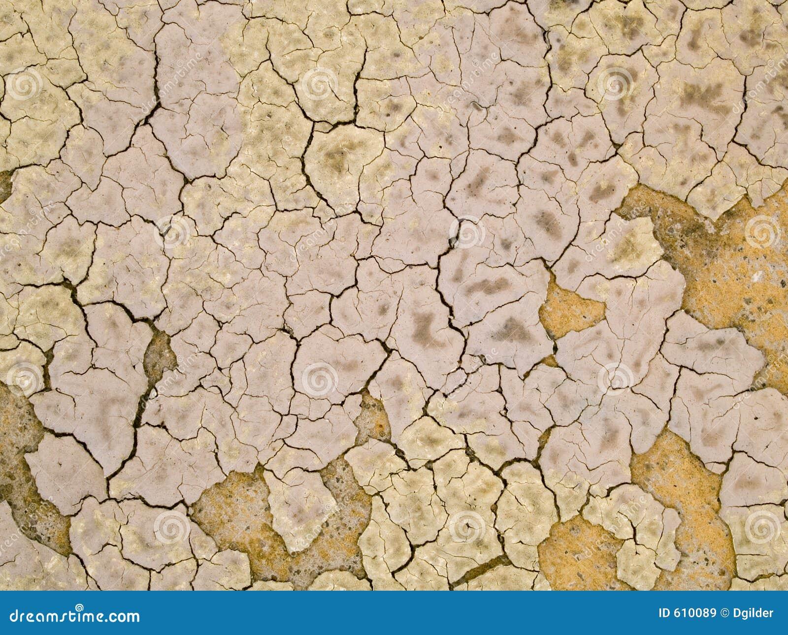 Textuur van droge modder