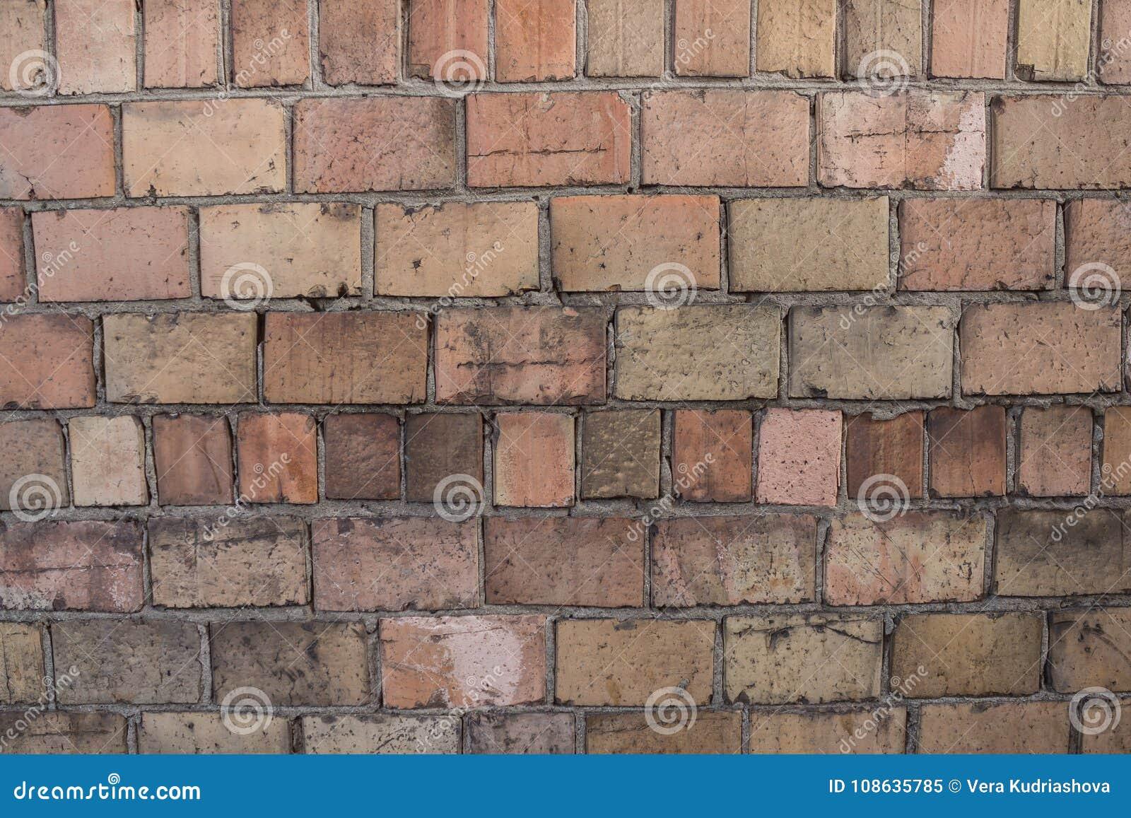 Textuur van een oude bakstenen muur