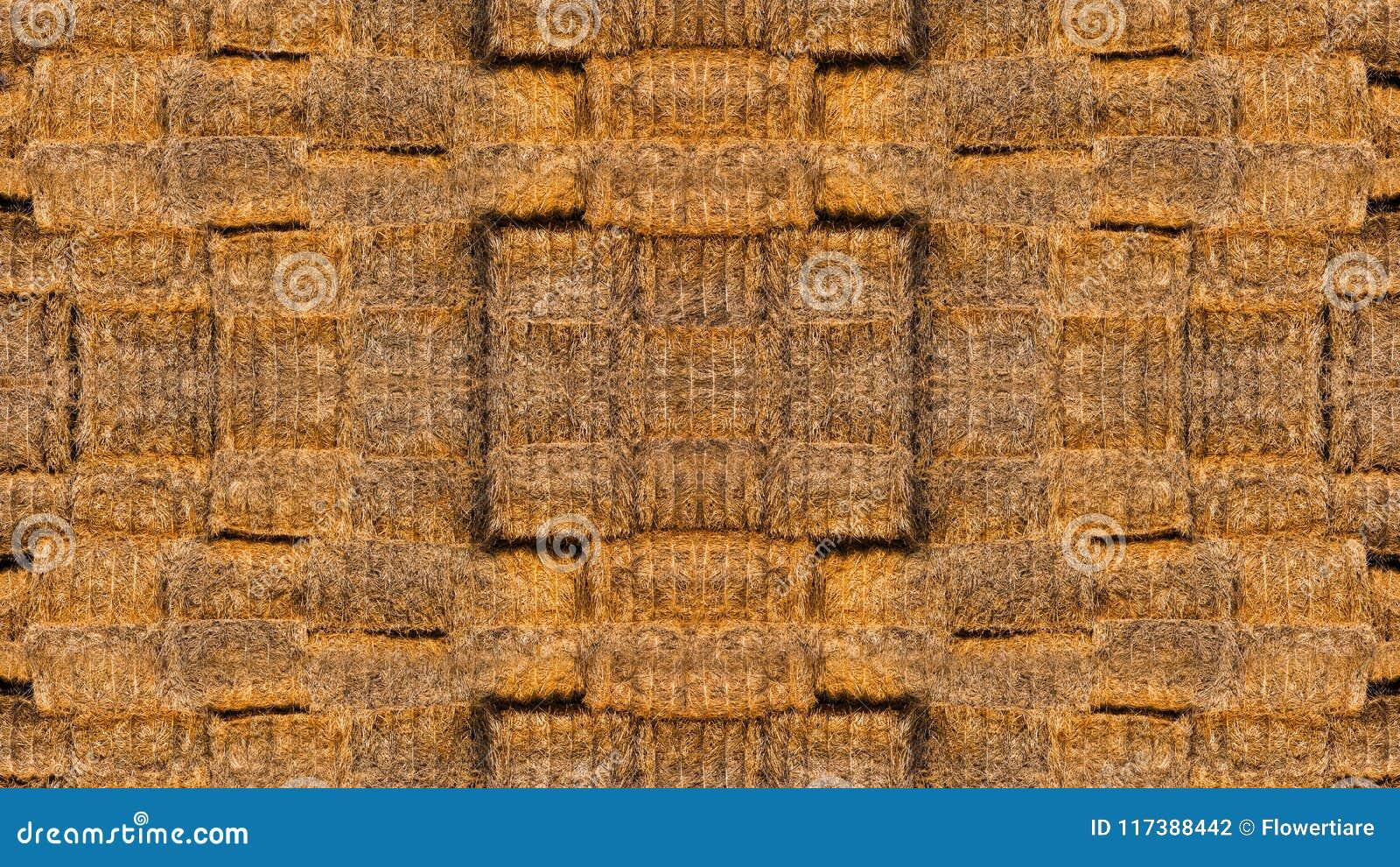 Textuur van heel wat balen van hooi