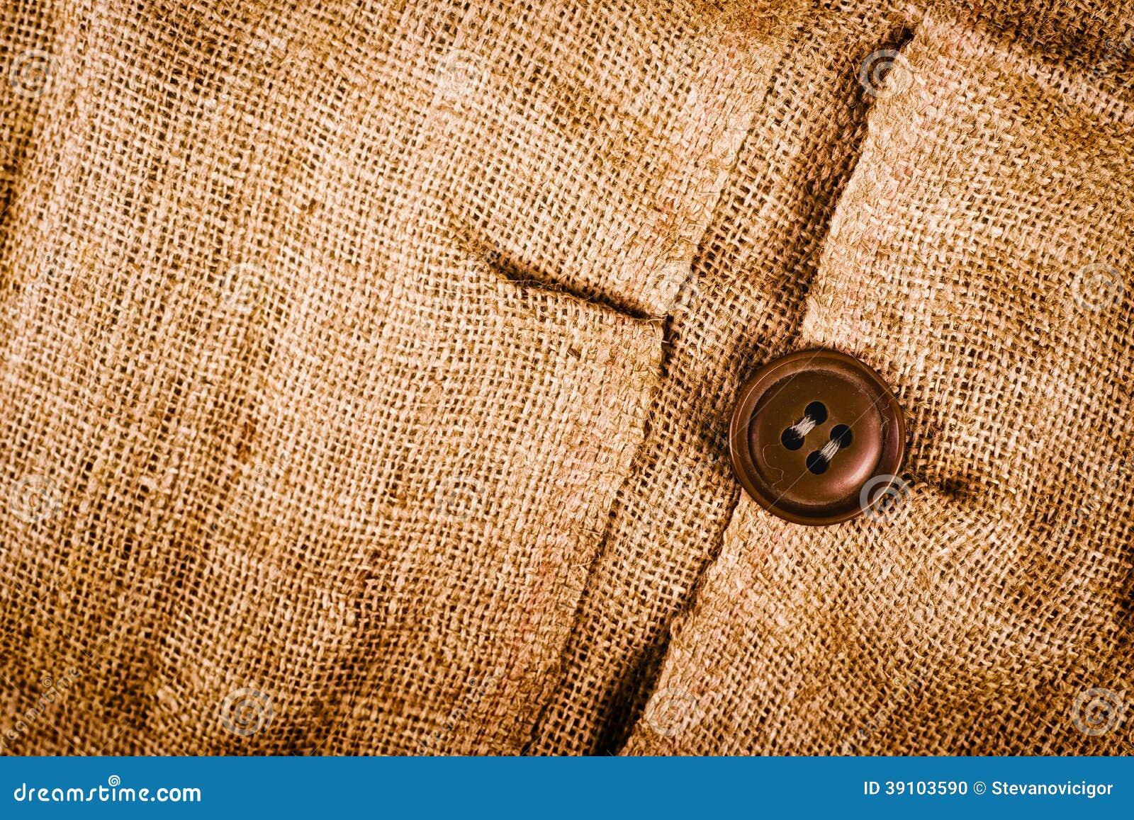 Textuur van oude vuile bruine aardappelzak.