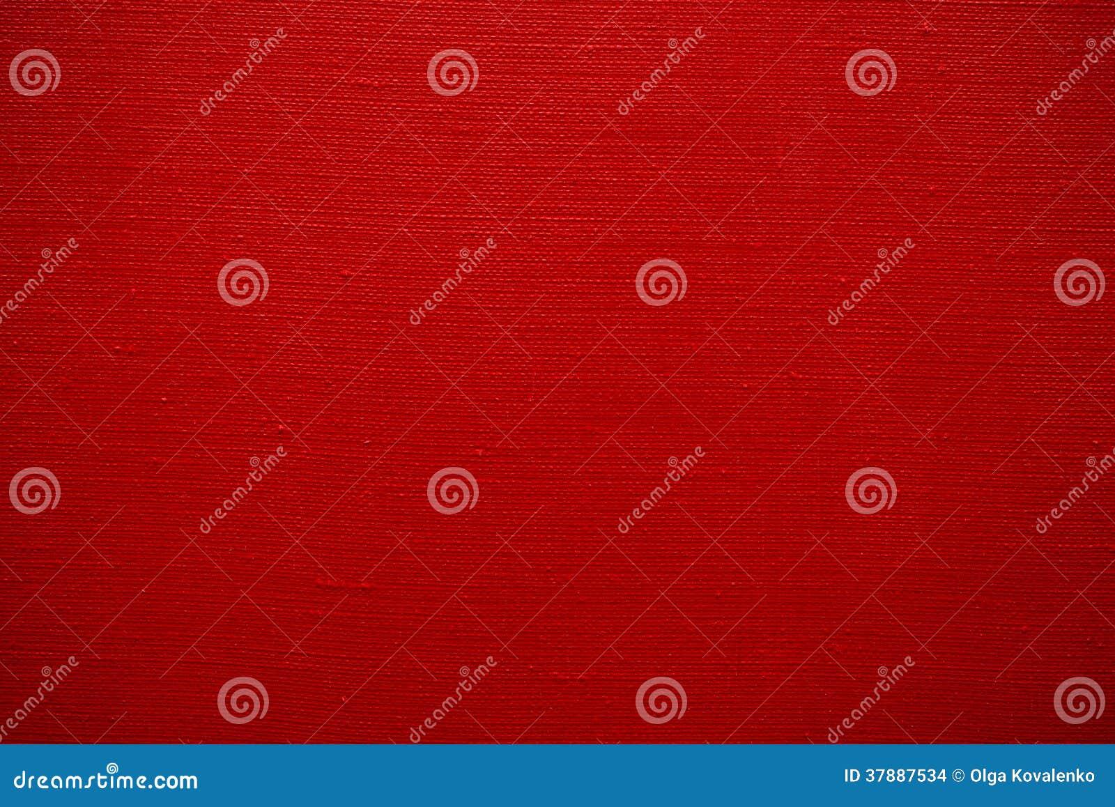 Textuur van rood canvas