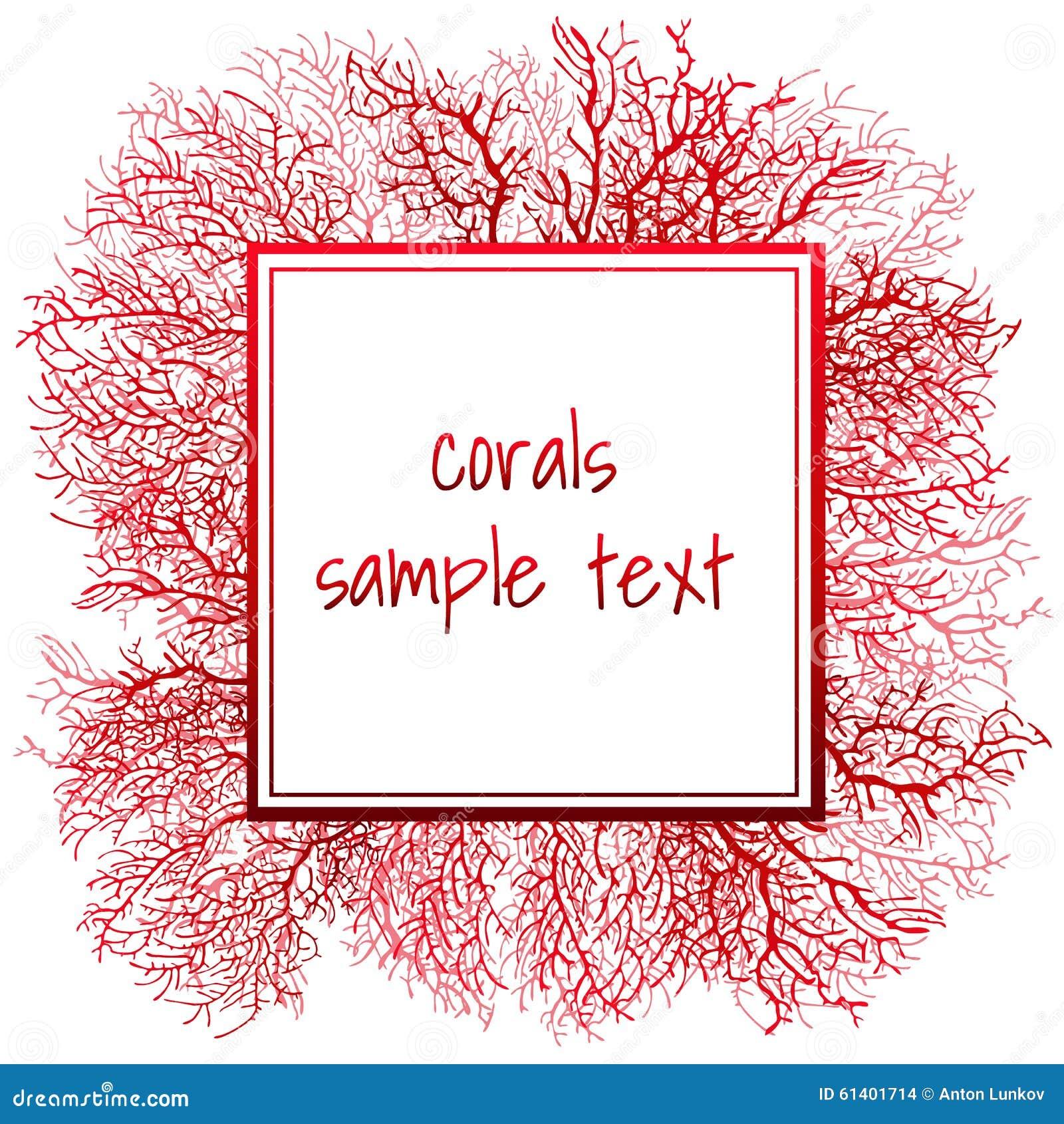 Textuur van rood koraal en kader voor tekst vector illustratie afbeelding 61401714 - Decoratief kader voor het leven ...