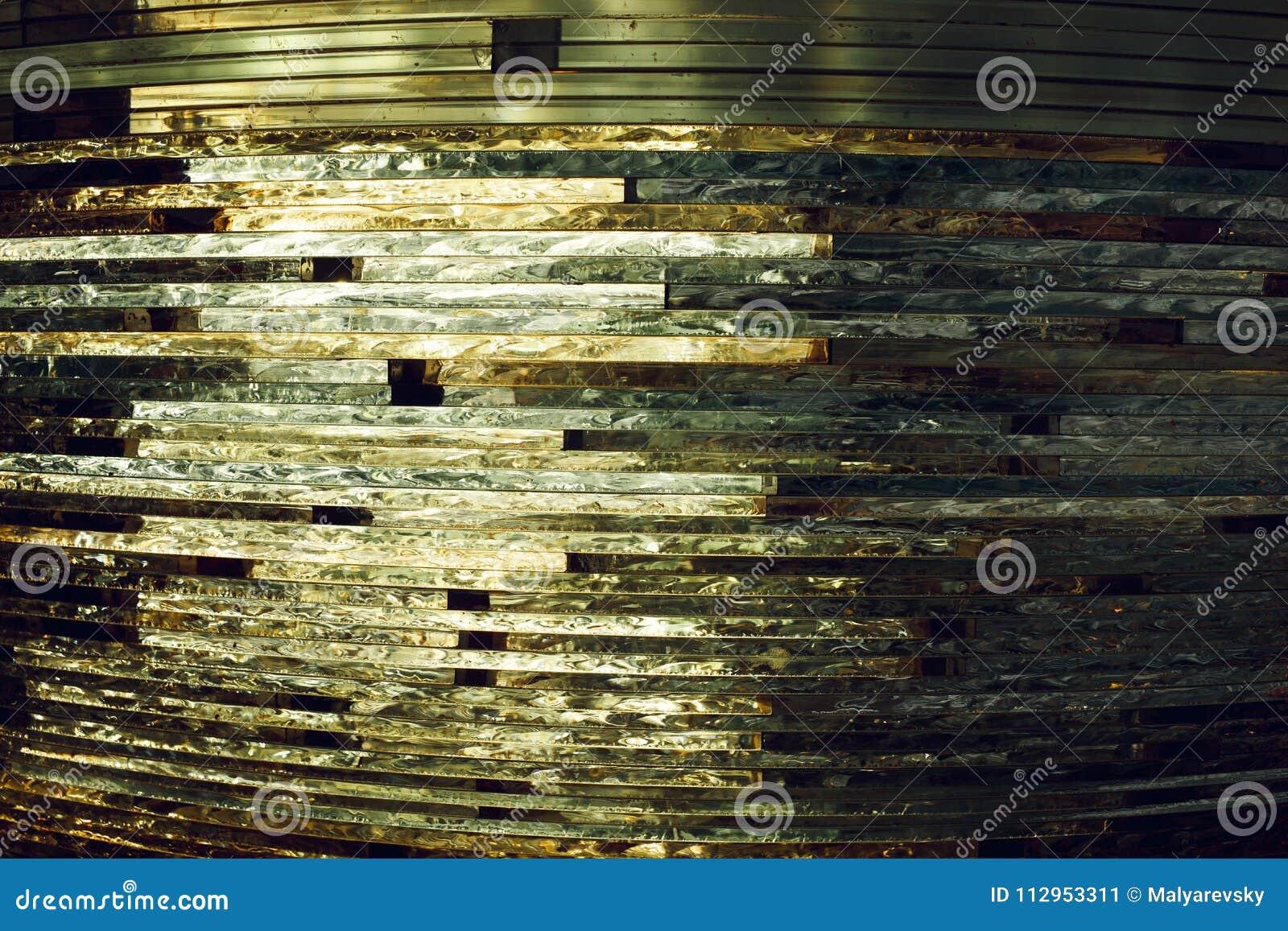 Textuurglas mozaïek De samenstelling van het glas