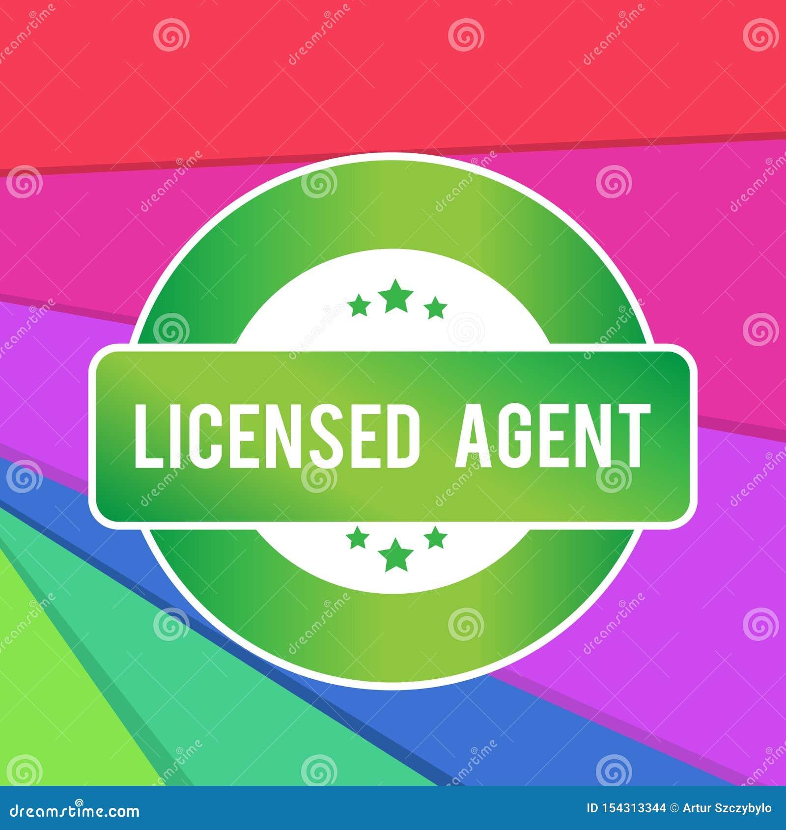 Textzeichen Vertretung genehmigtes Mittel Begriffsfoto autorisiert und beglaubigter Verkäufer von Versicherungspolicen um gefärbt