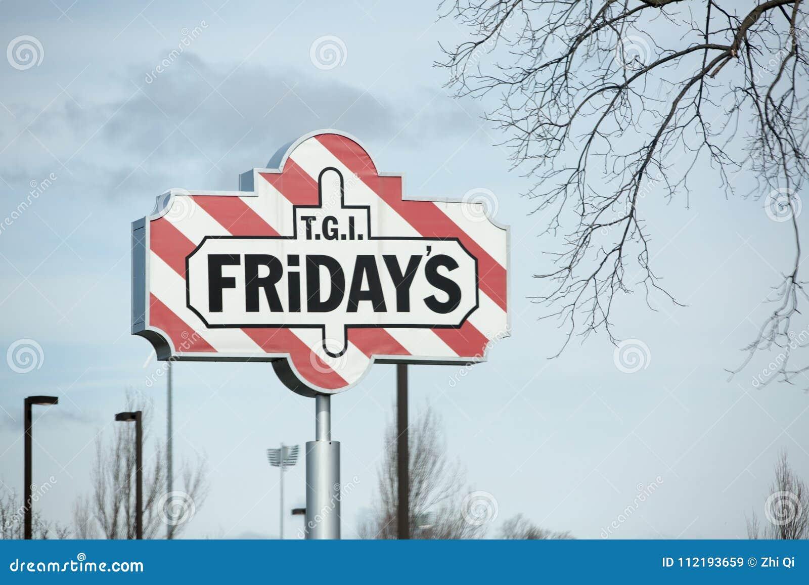 TGI Fridays Exterior And Logo  TGI Friday`s Is An American