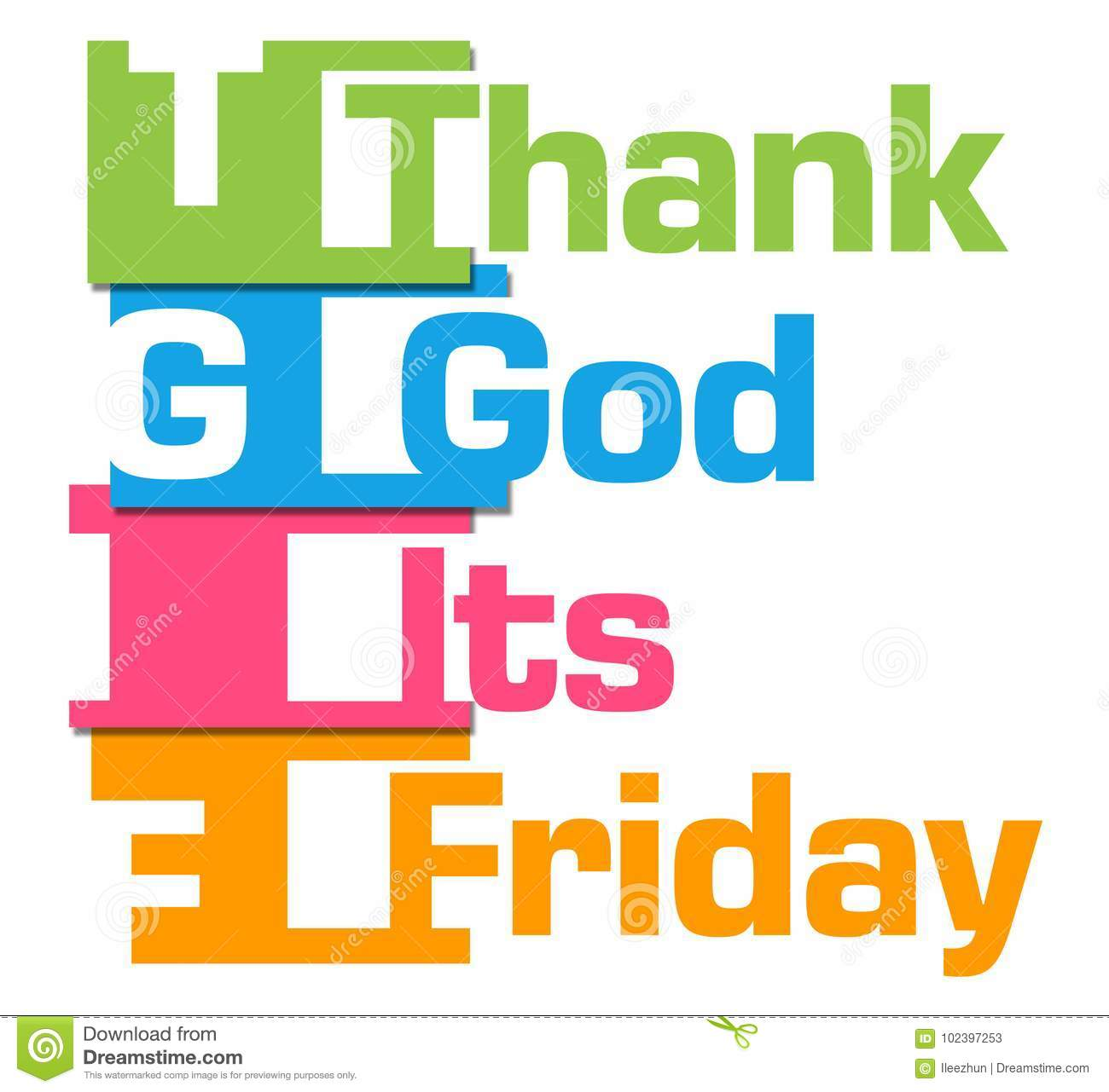 Tgif Thank God Its Friday Colorful Abstract Stripes Stock