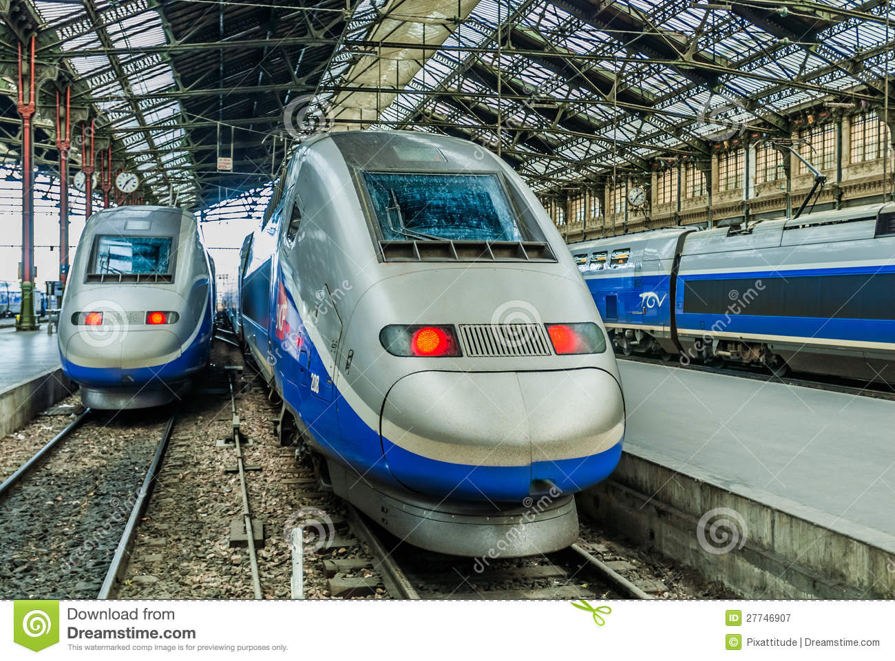 TGV High Speed French Train Editorial Photography - Image of