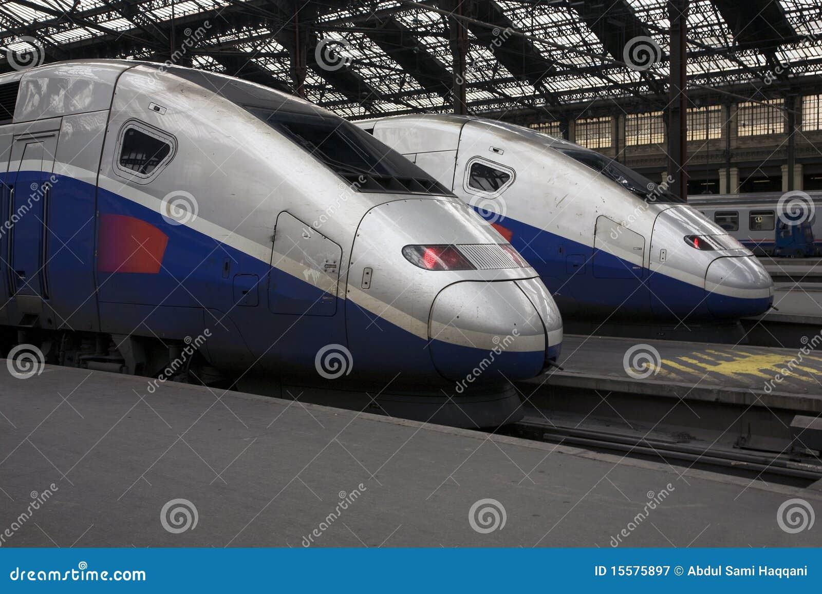TGV Trains at Paris Gare de Lyon