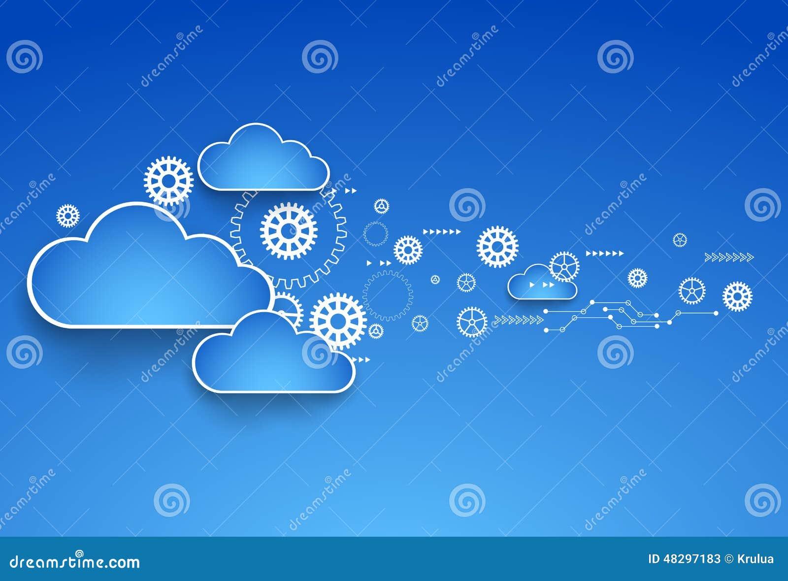 Thème de nuage de roue dentée