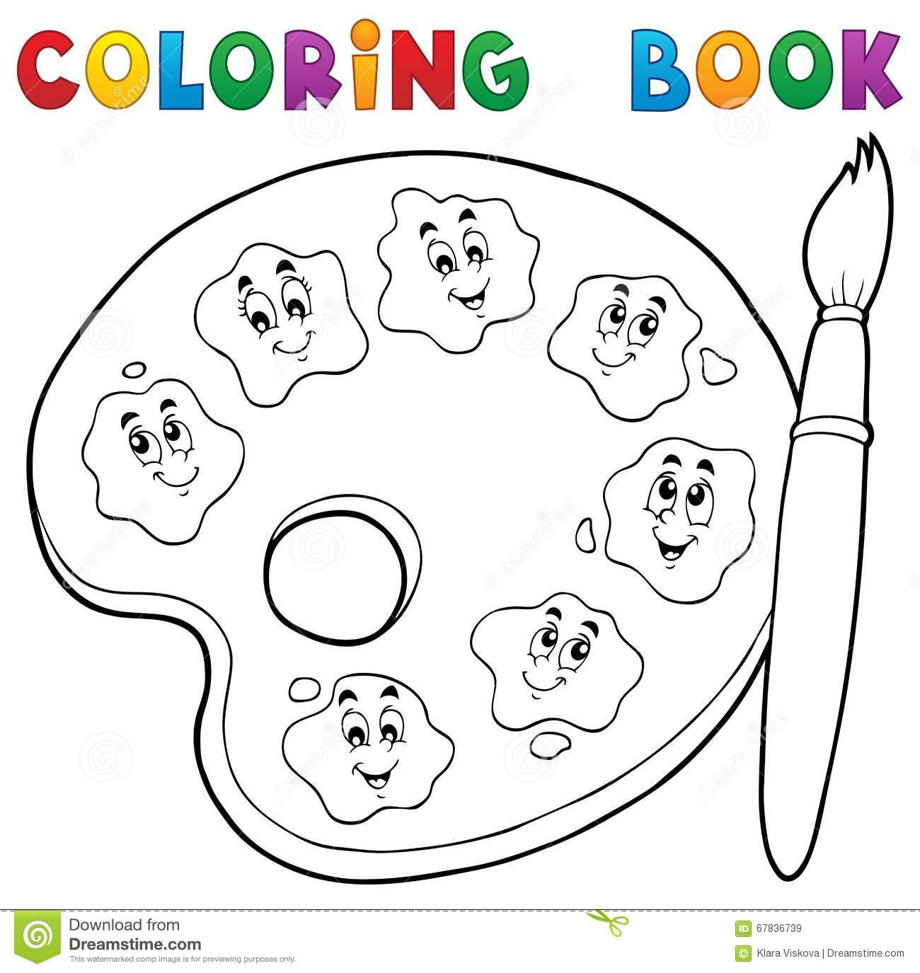 Th me 2 de palette de peinture de livre de coloriage illustration de vecteur illustration du - Palette dessin ...