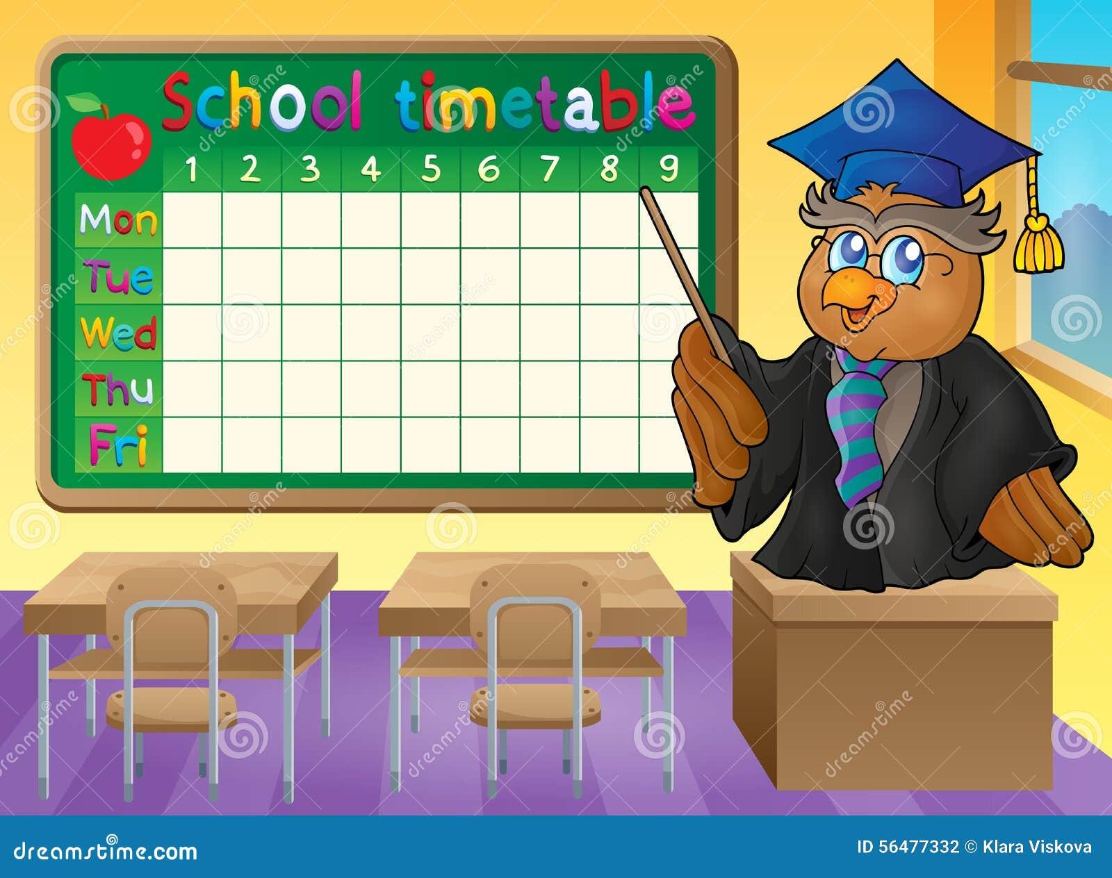 Thème 2 de salle de classe d horaire d école