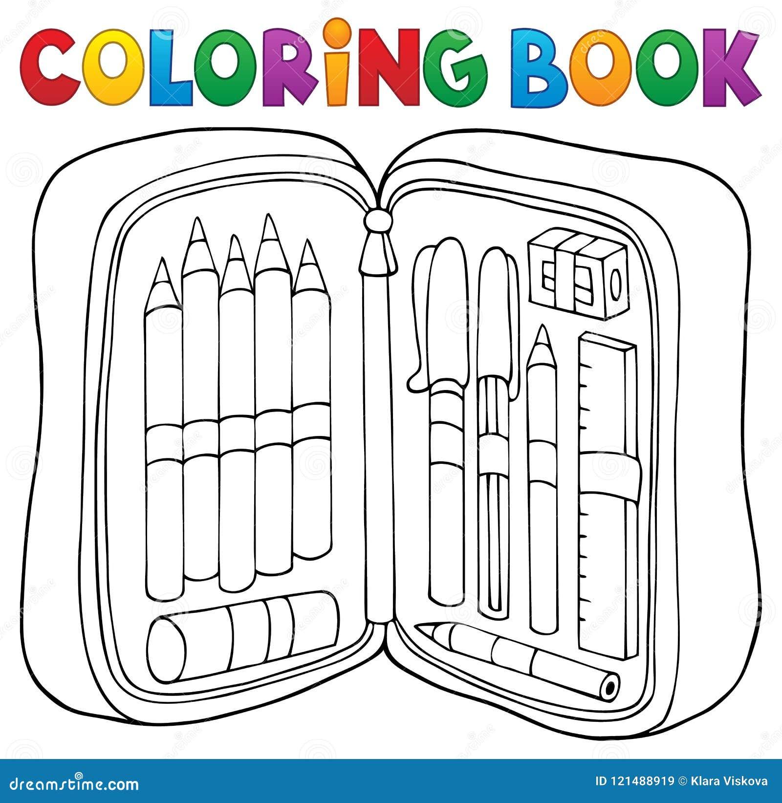Theme 1 De Trousse D Ecolier De Livre De Coloriage