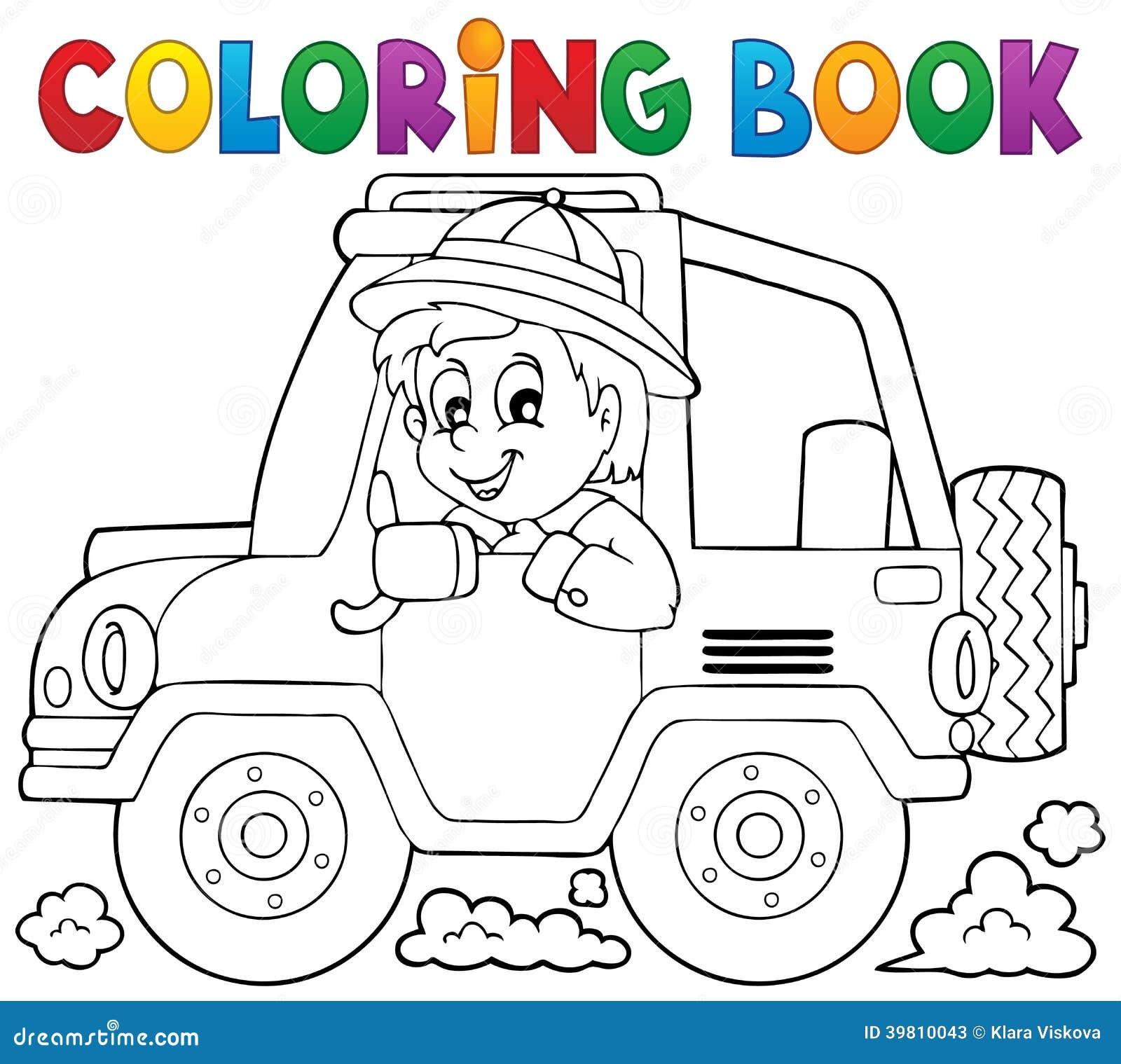 Th me 1 de voyageur de voiture de livre de coloriage - Voyageur dessin ...