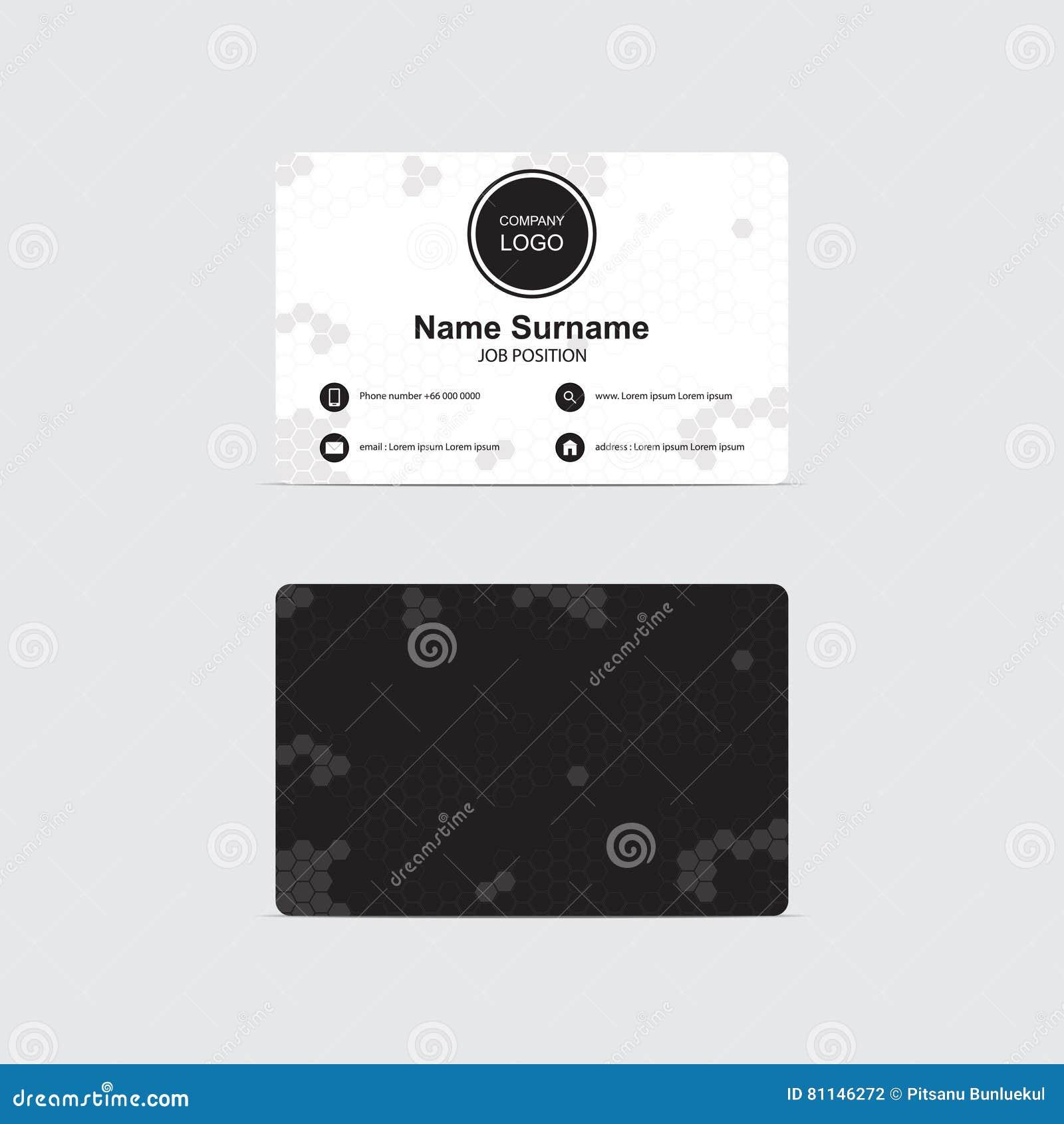 Mode Noir Et Blanc Du Theme RVB Dhexagones De Carte Visite Professionnelle