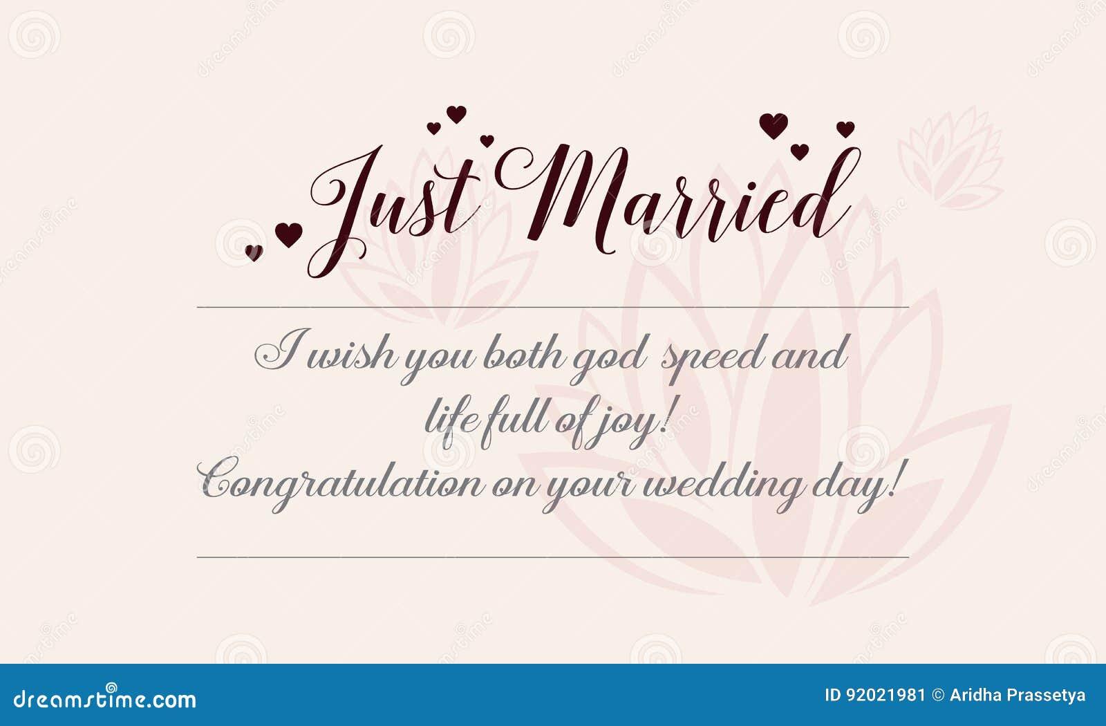 Illustration romantique heureuse de thème de carte de voeux de mariage