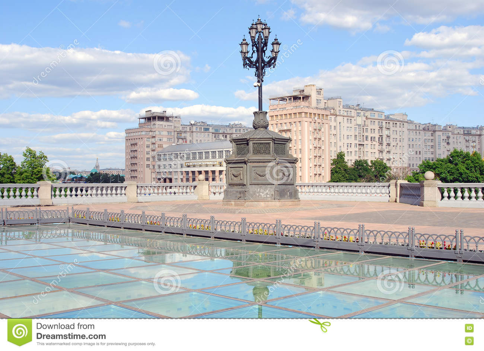 Théâtre D\'Estrade Et Chambre Célèbre Sur Emankment à Moscou ...