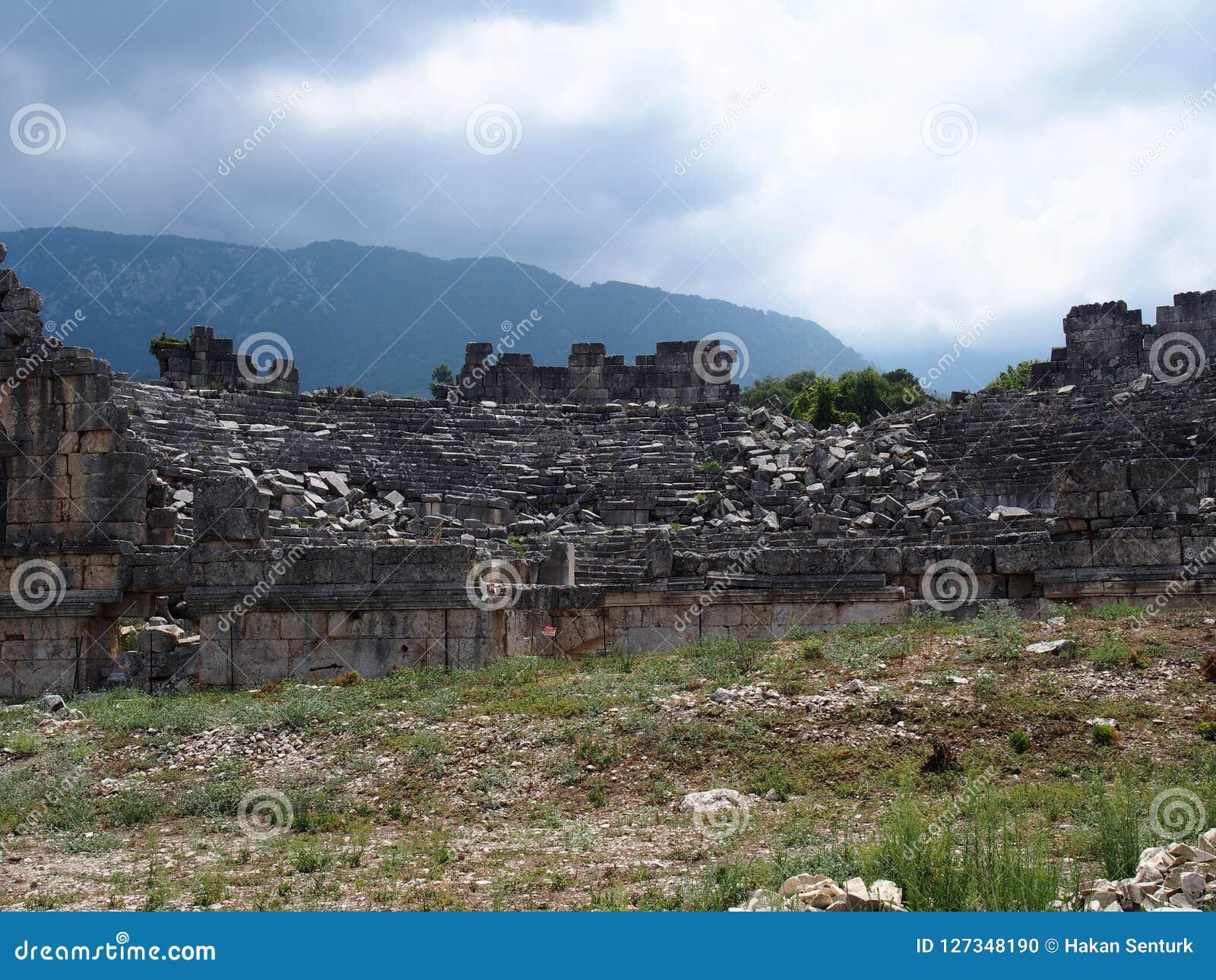 Théâtre de la ville antique de Tlos Fethiye