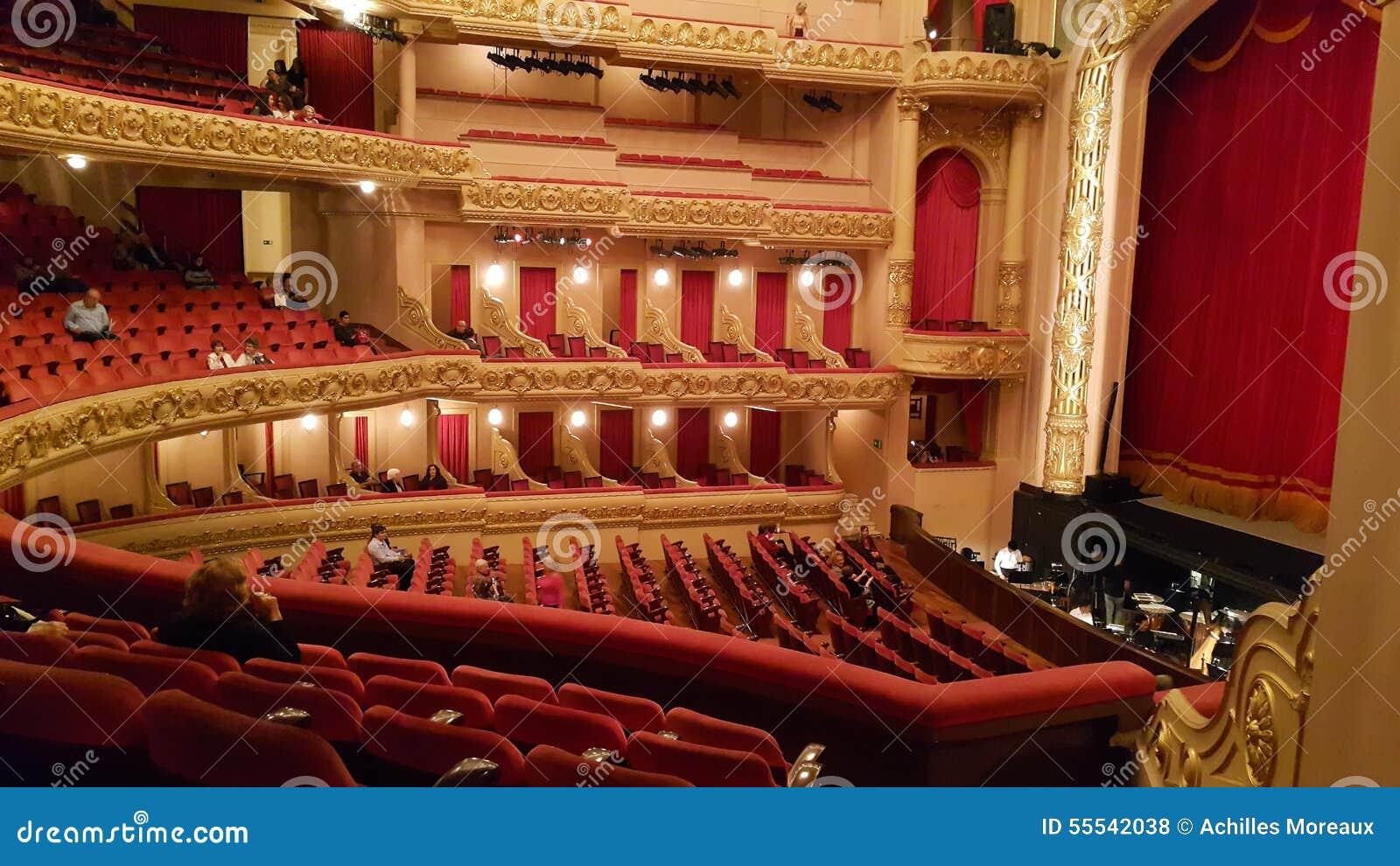 Théâtre municipal en Rio de Janeiro, Brésil