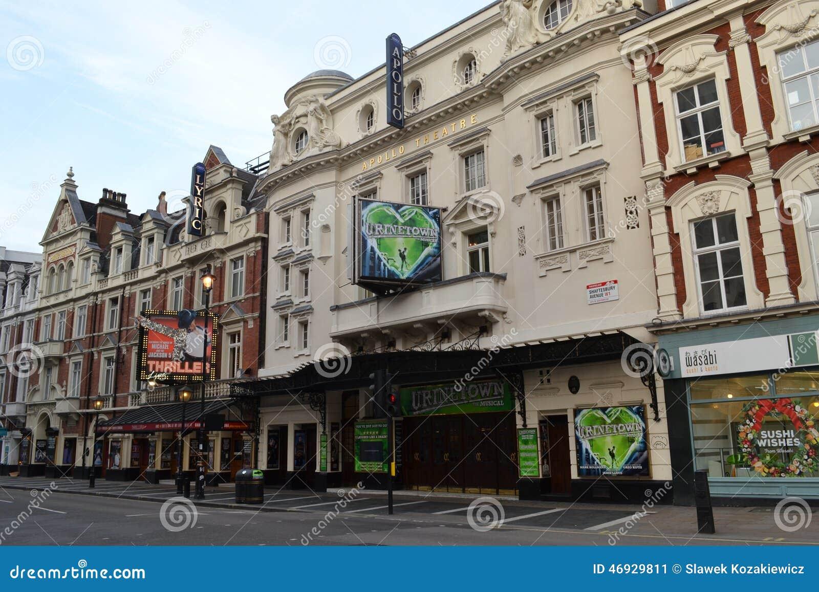 Théâtres sur l avenue Londres de Shaftesbury