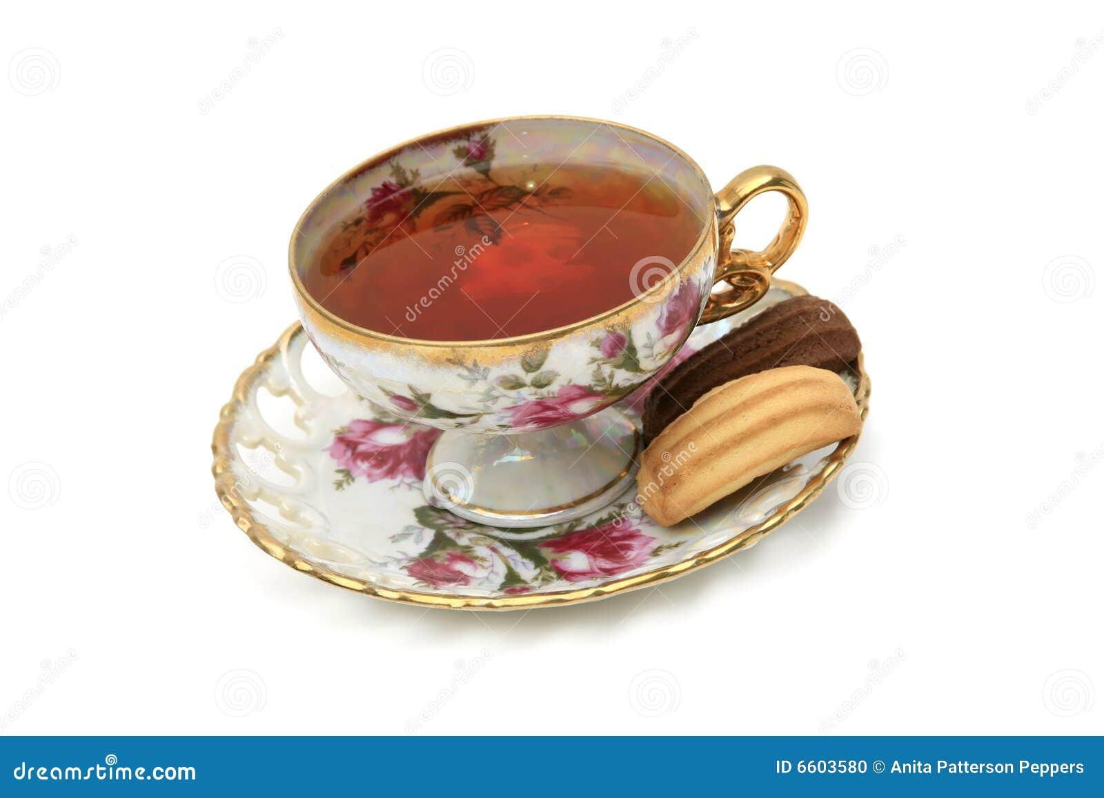 Thé antique de cuvette de biscuits