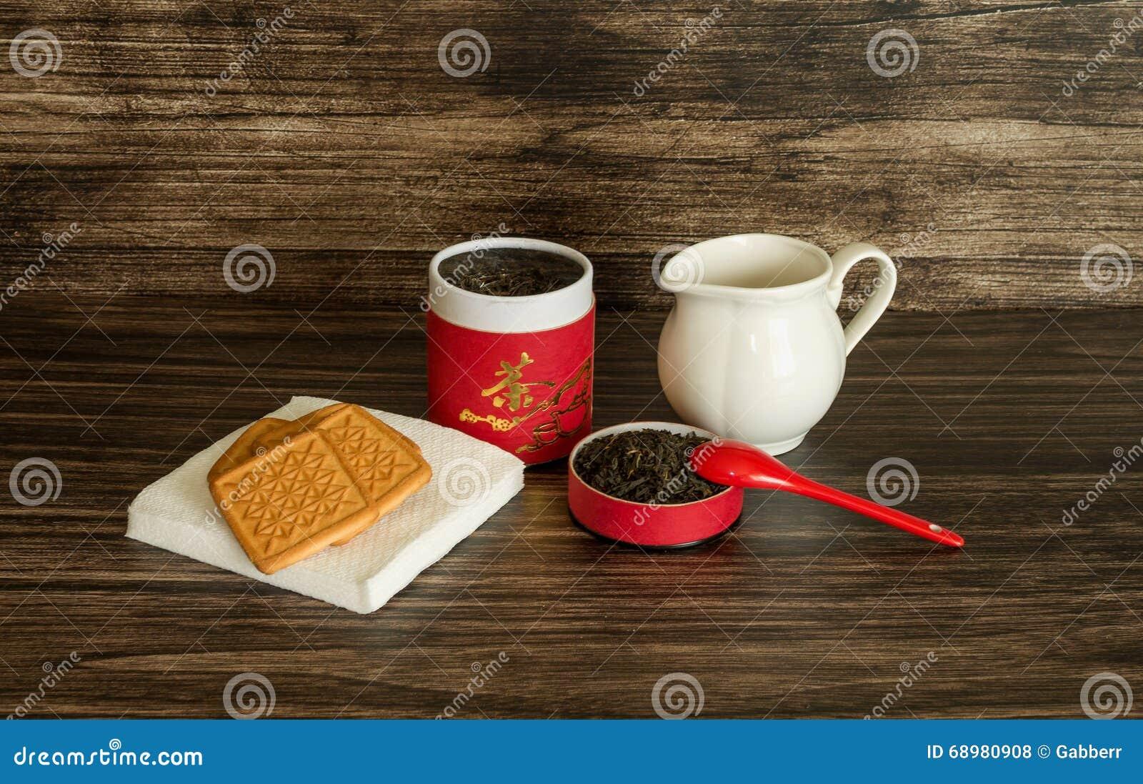 Thé, biscuits et un pot