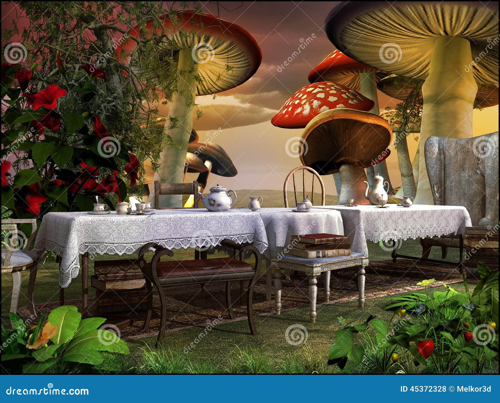 Thé dans le jardin magique