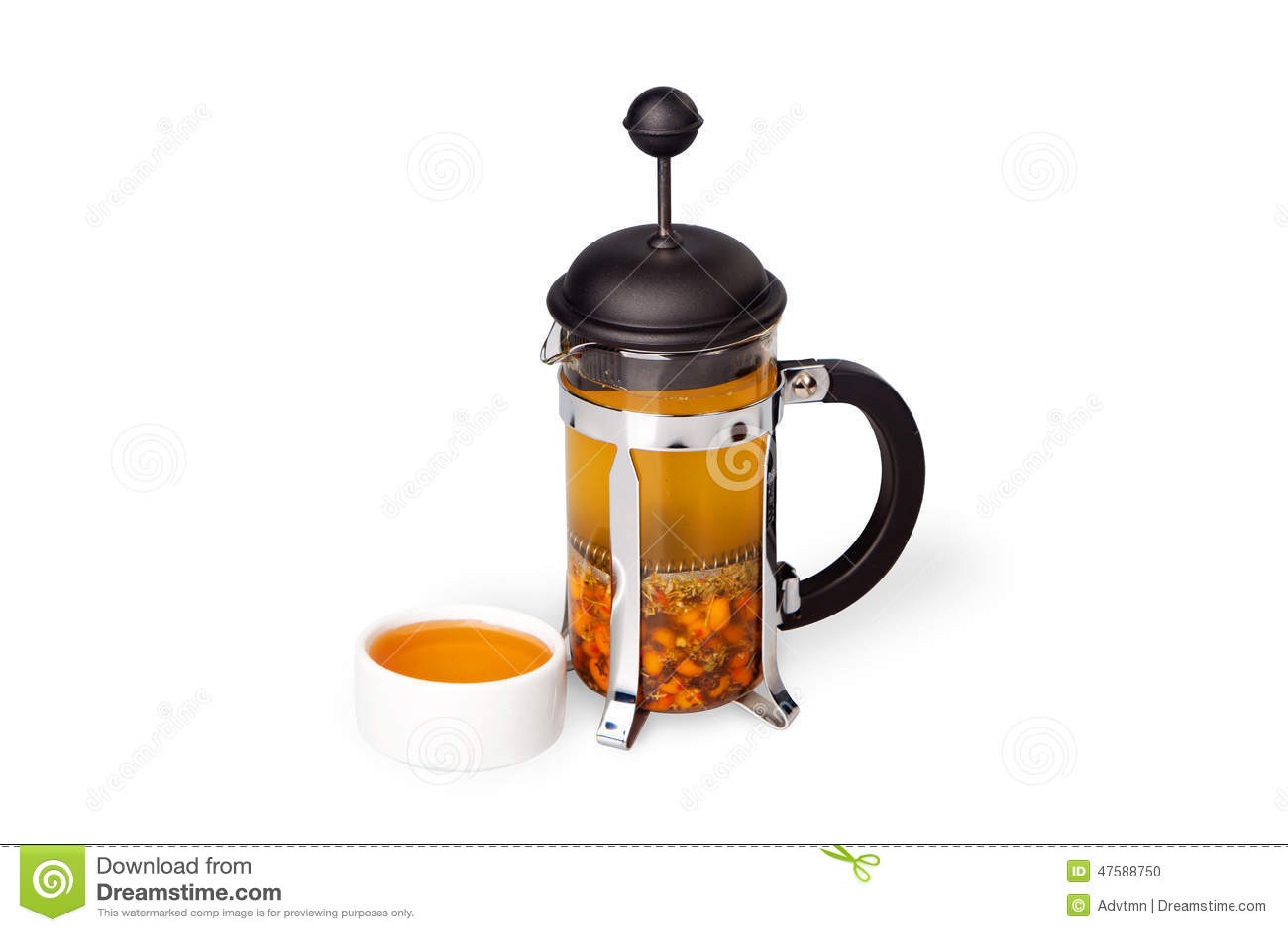 Thé de baie avec du miel