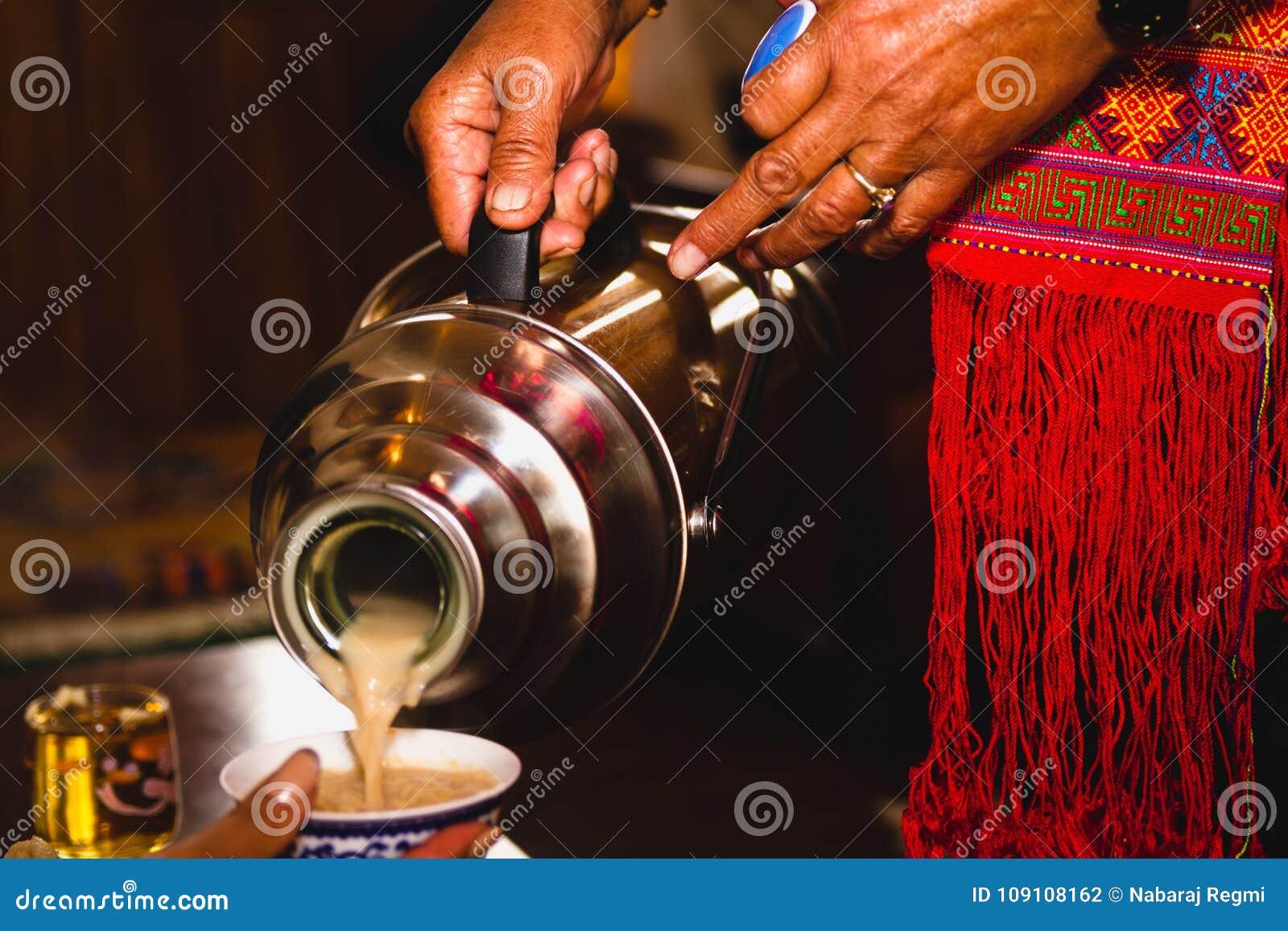 Thé de portion de récipient
