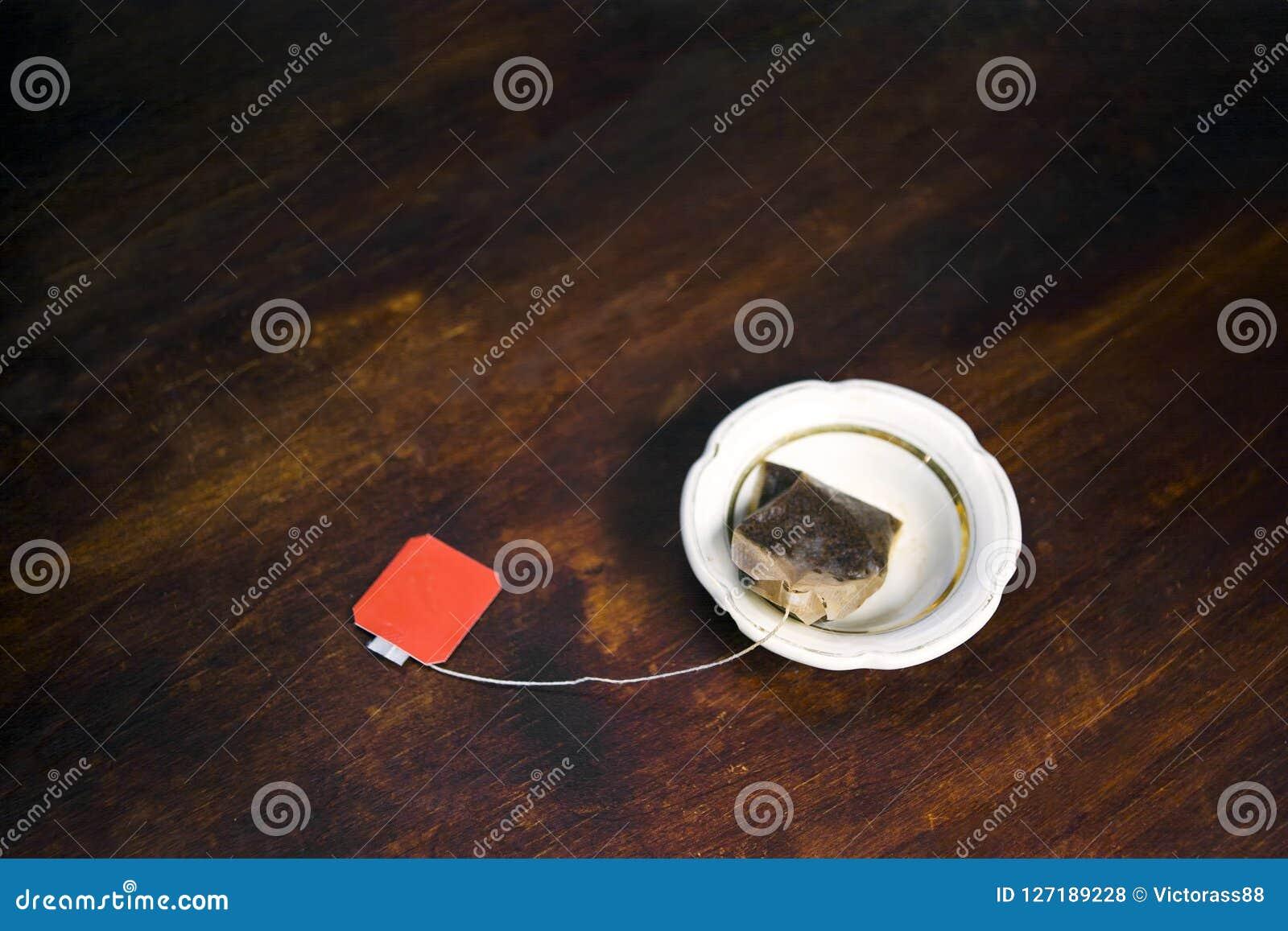 Thé de sac utilisé