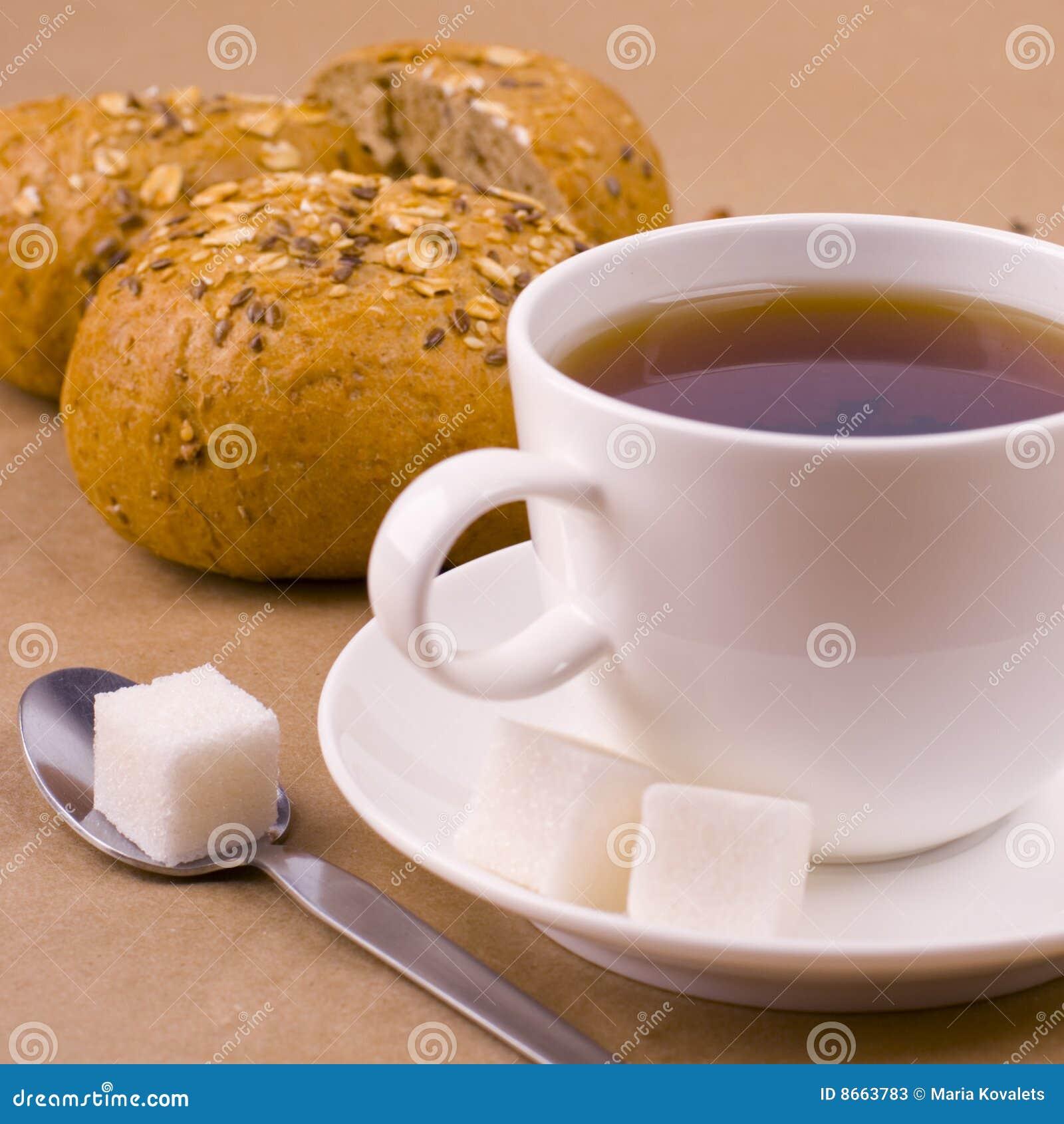 Thé de sucre de cuvette de pain
