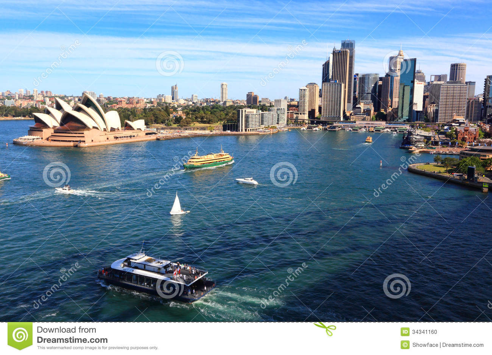 Théatre de Sydney Harbour et de l opéra et bâtiments de ville, Australie