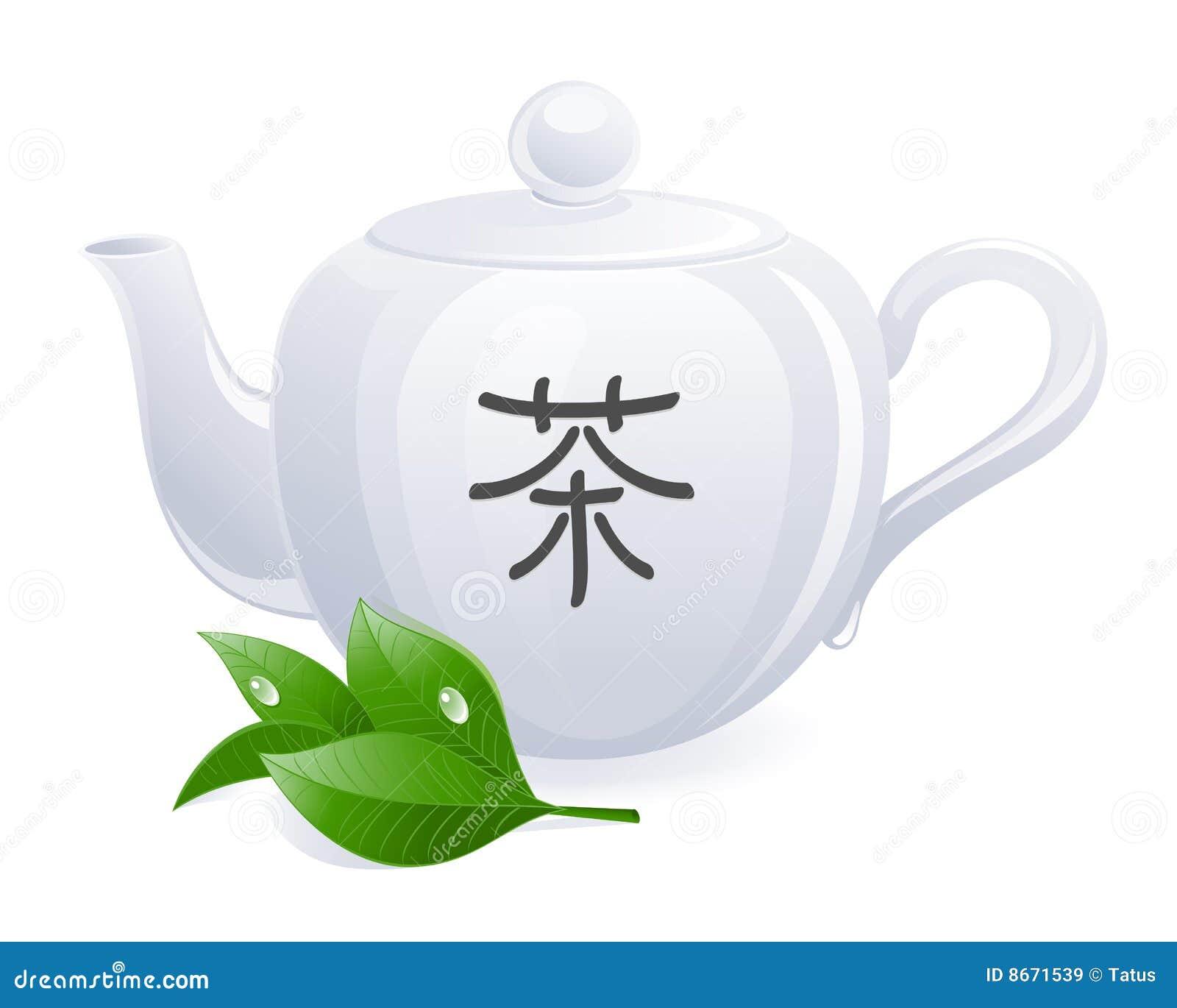 Théière chinoise d hiéroglyphe