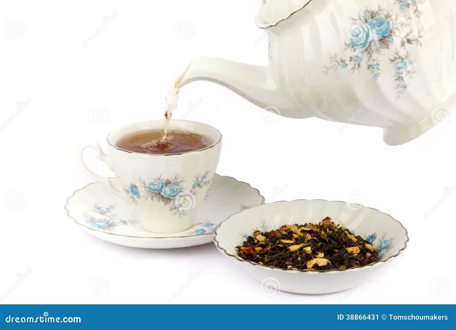Théière et une tasse