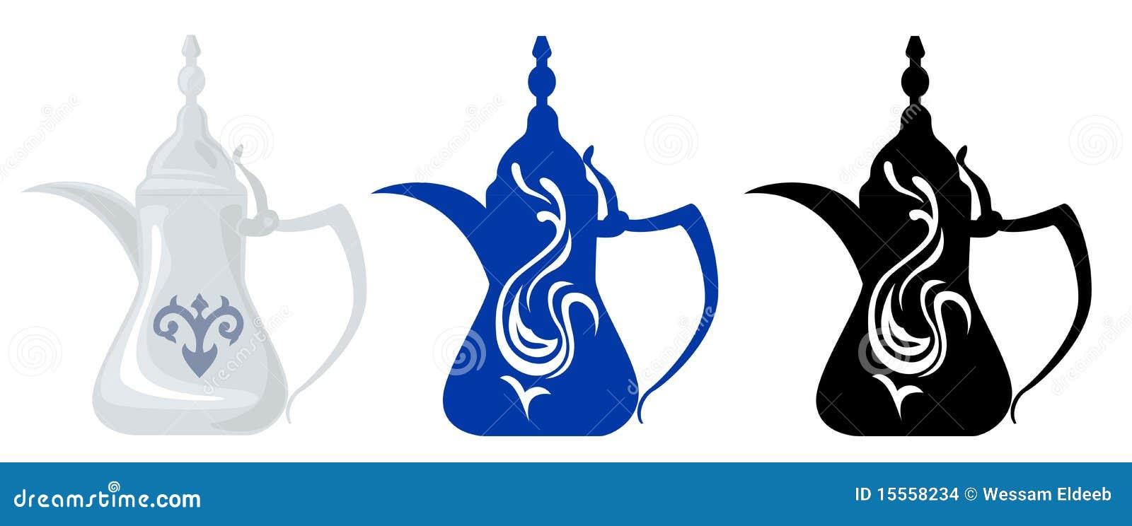 Théières et silhouettes Arabes 1