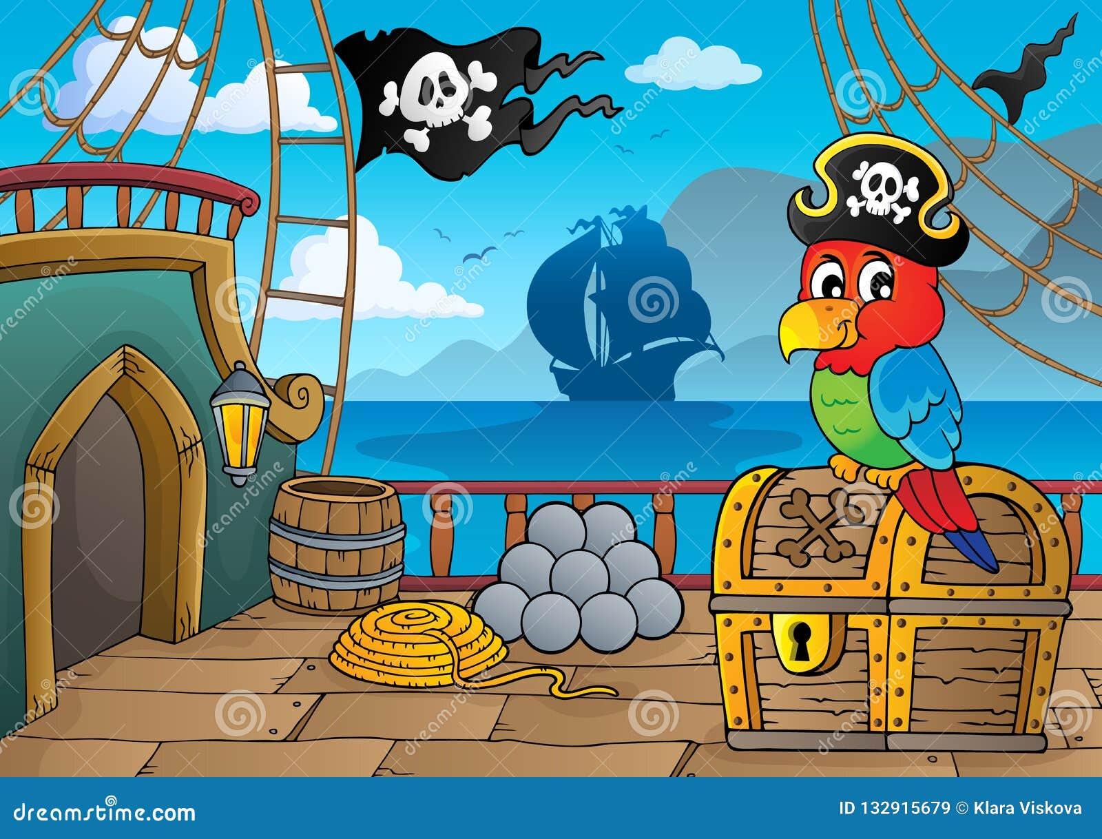 Thématique 2 de plate-forme de bateau de pirate