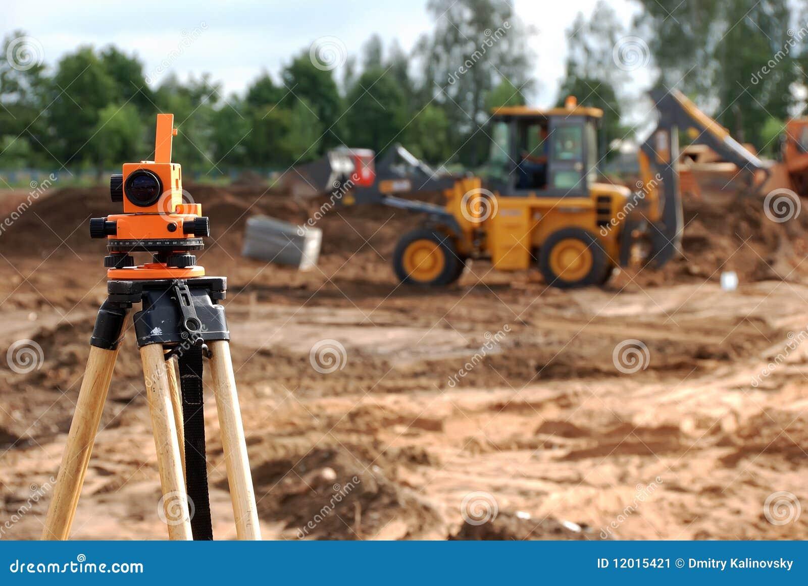 Théodolite au chantier de construction
