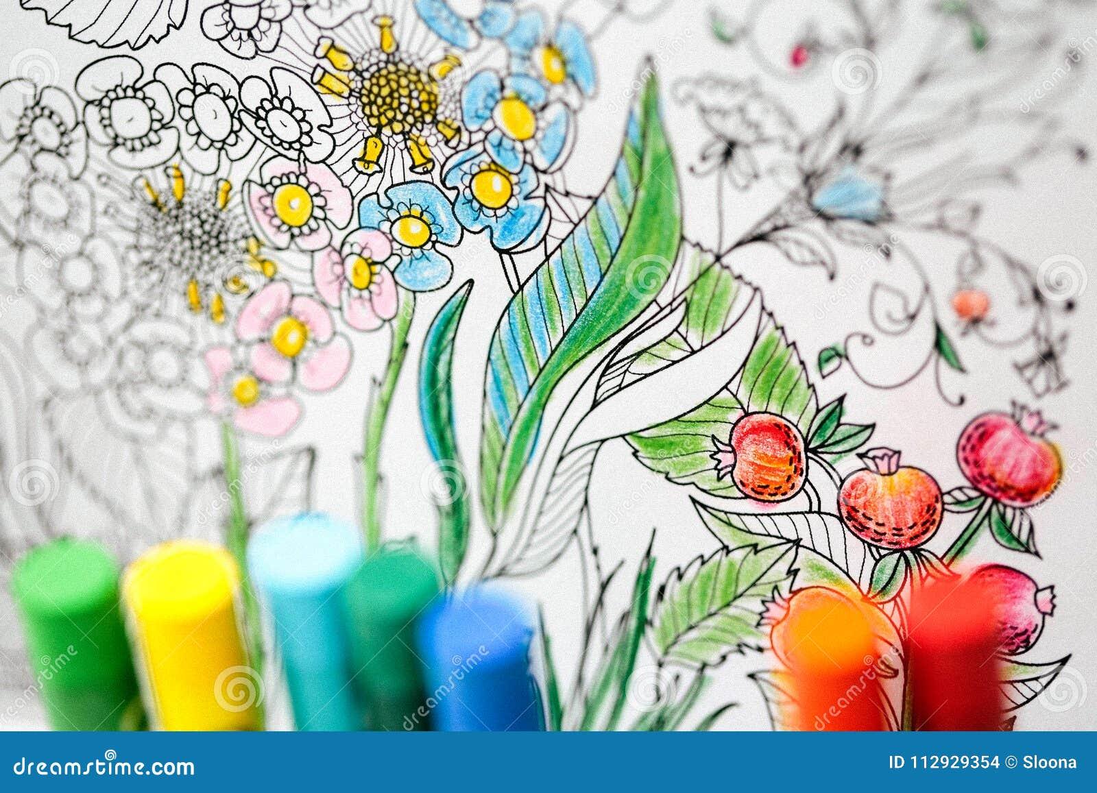Coloriage Adulte Therapie.Therapie D Art Et De Couleur Anti Livre De Coloriage D Adulte D