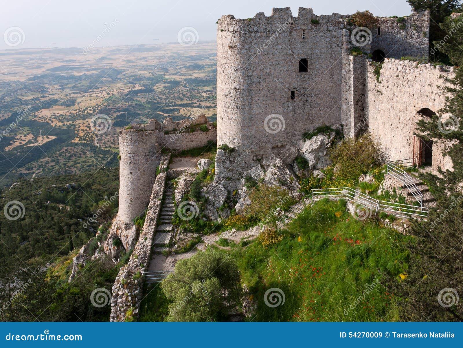 10th заднее столетие Кипр замока идет начала kantara северные к