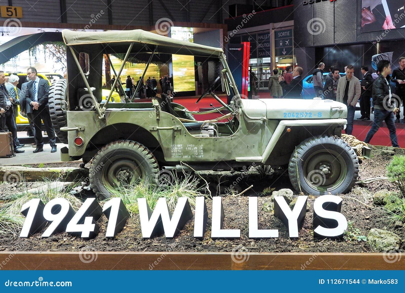 88th мотор-шоу 2018 до Женевы международное Willys 1941