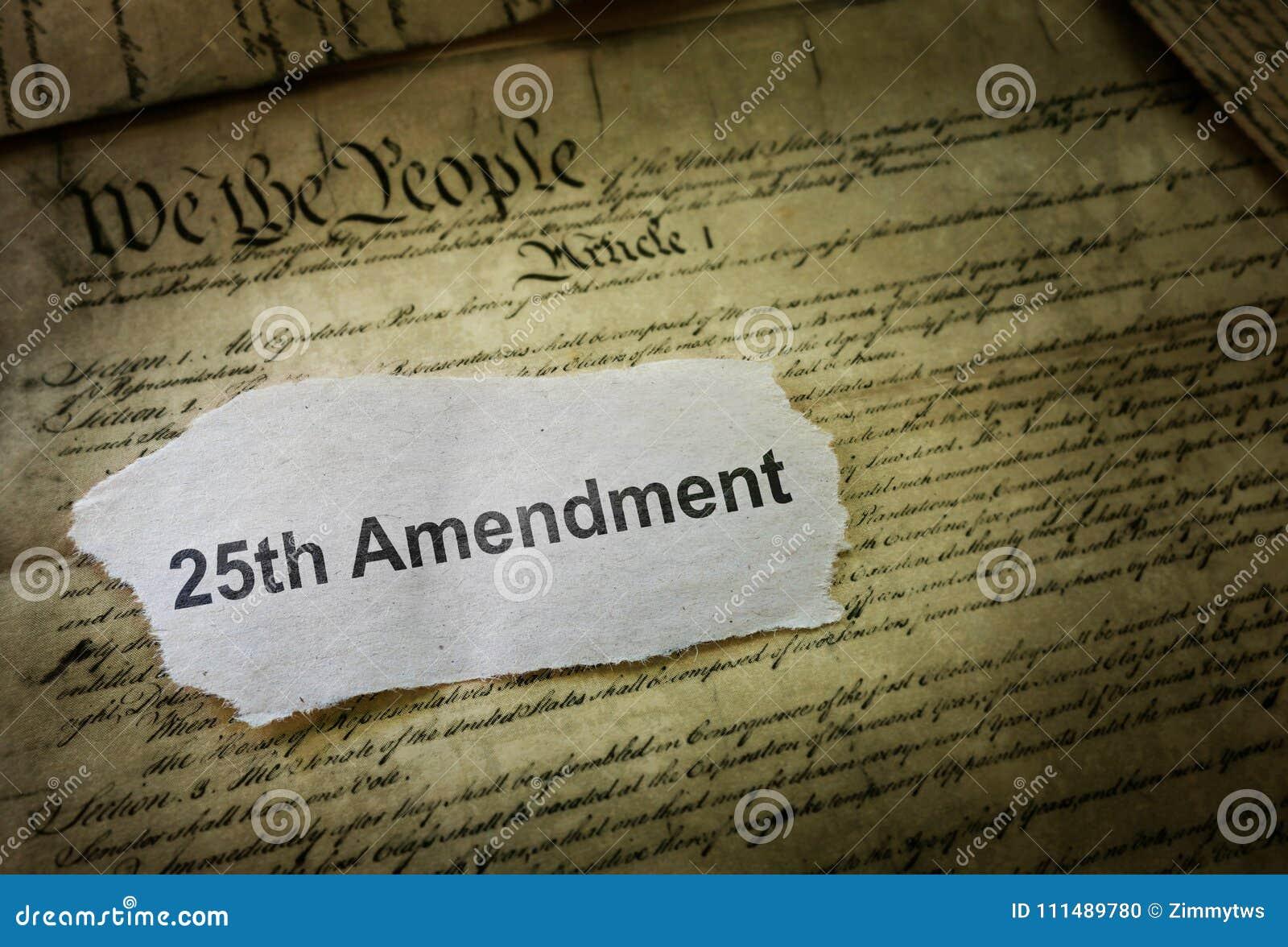 25th Amendment News Headline
