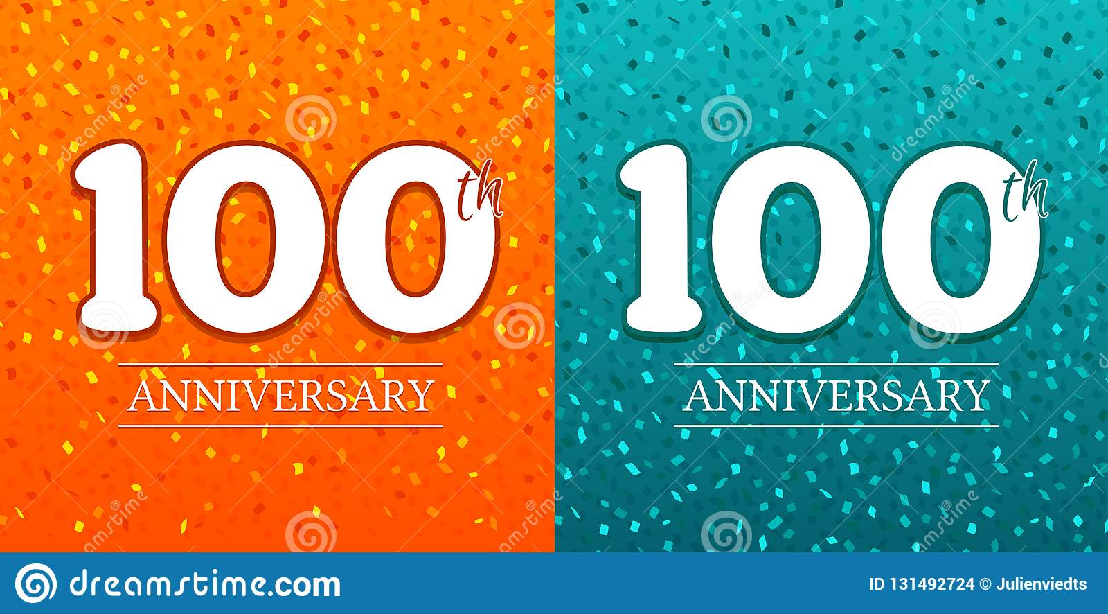 100th Anniversary Background - 100 years Celebration. Birthday Eps10 Vector