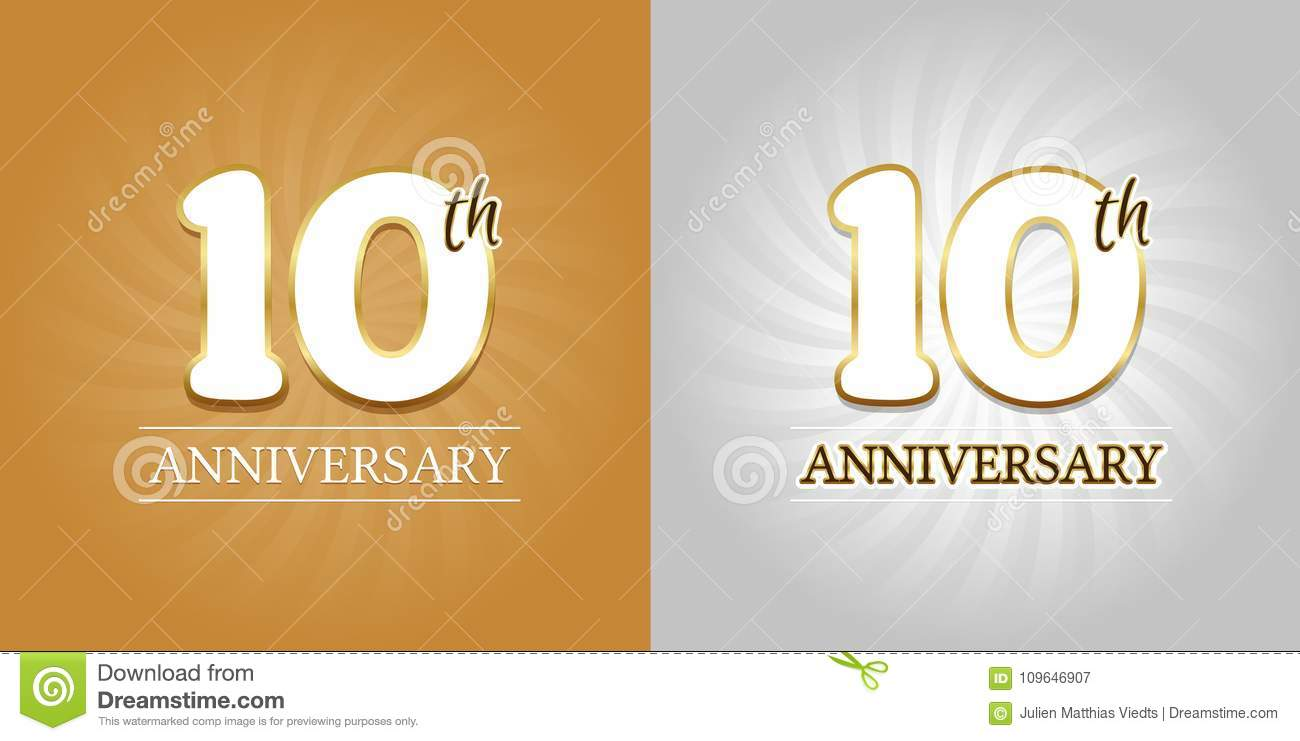 Th anniversary background years celebration gold and silver