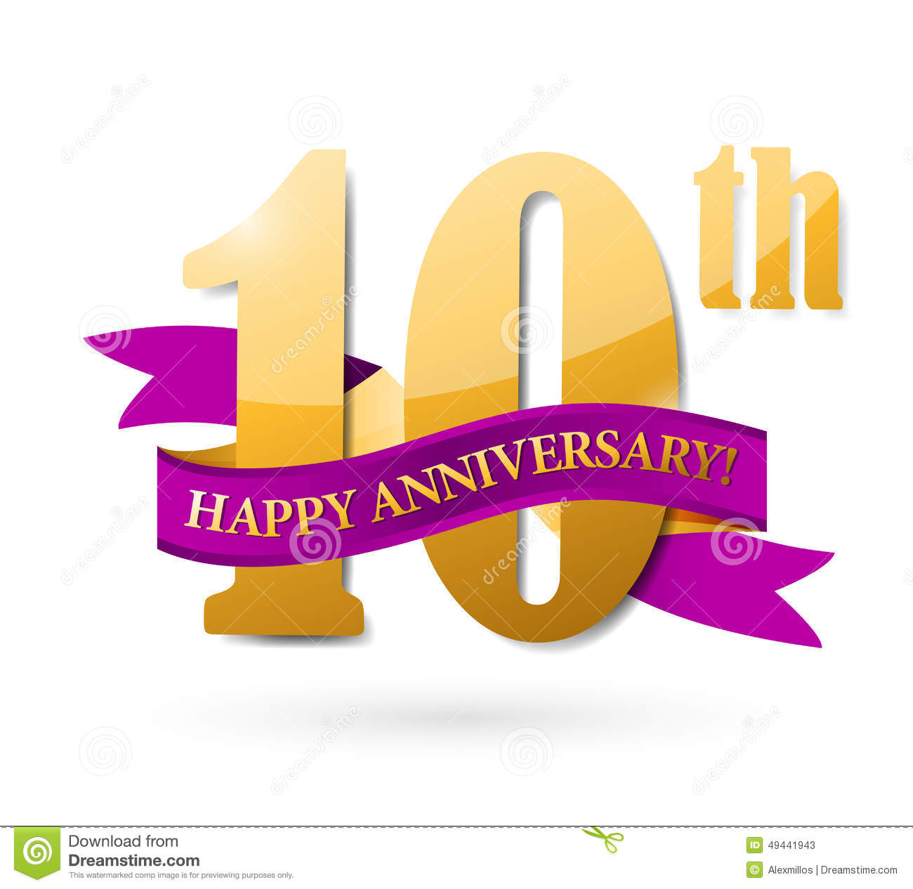 Anniversary 10th Balloons Poster, 10 Years Banner Design Stock ...