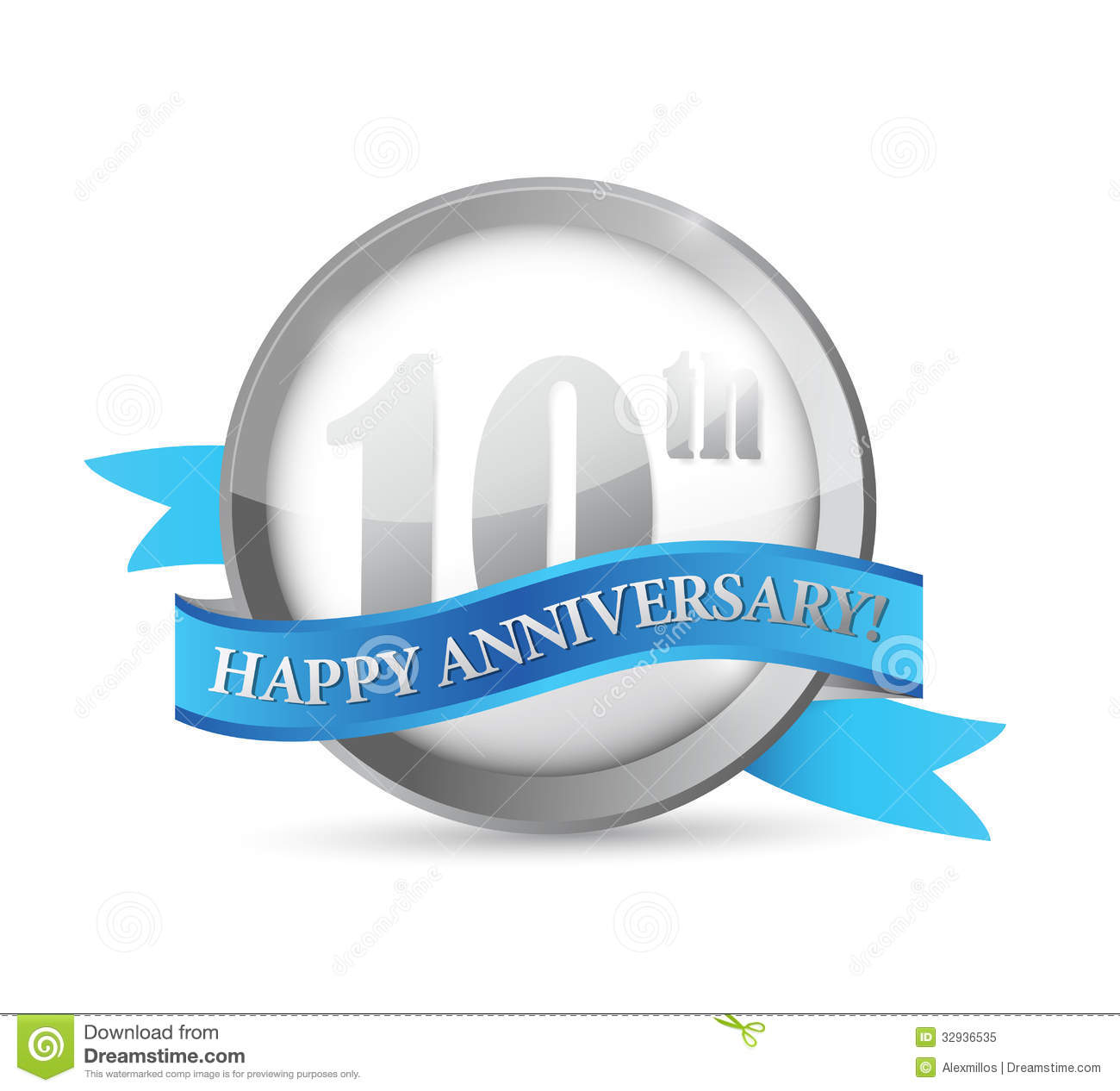 10th Anniversary Seal Royalty Free Stock Photography Image 30874967 throughout Free Clip Art 10th Anniversary