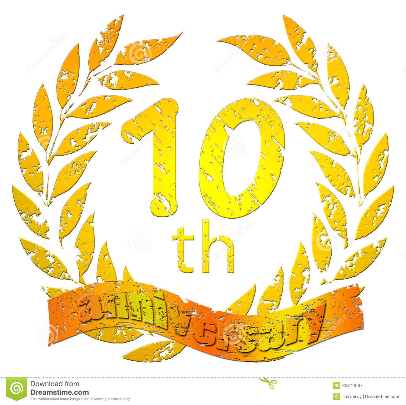 10th Anniversary Seal Royalty Free Stock Photography Image 30874967 with Free Clip Art 10th Anniversary