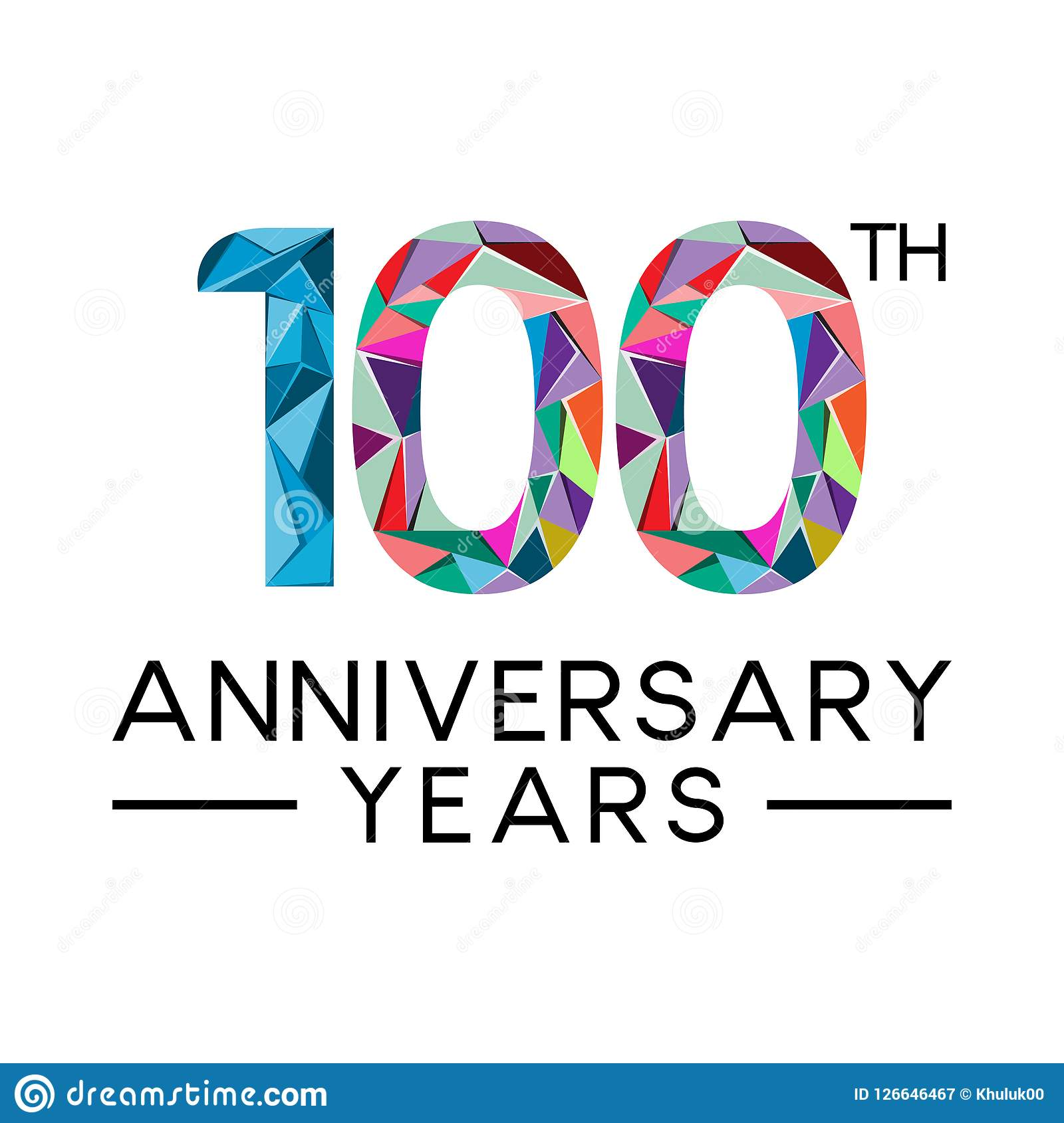 100th Anniversary Years Abstract Triangle Modern Full Col