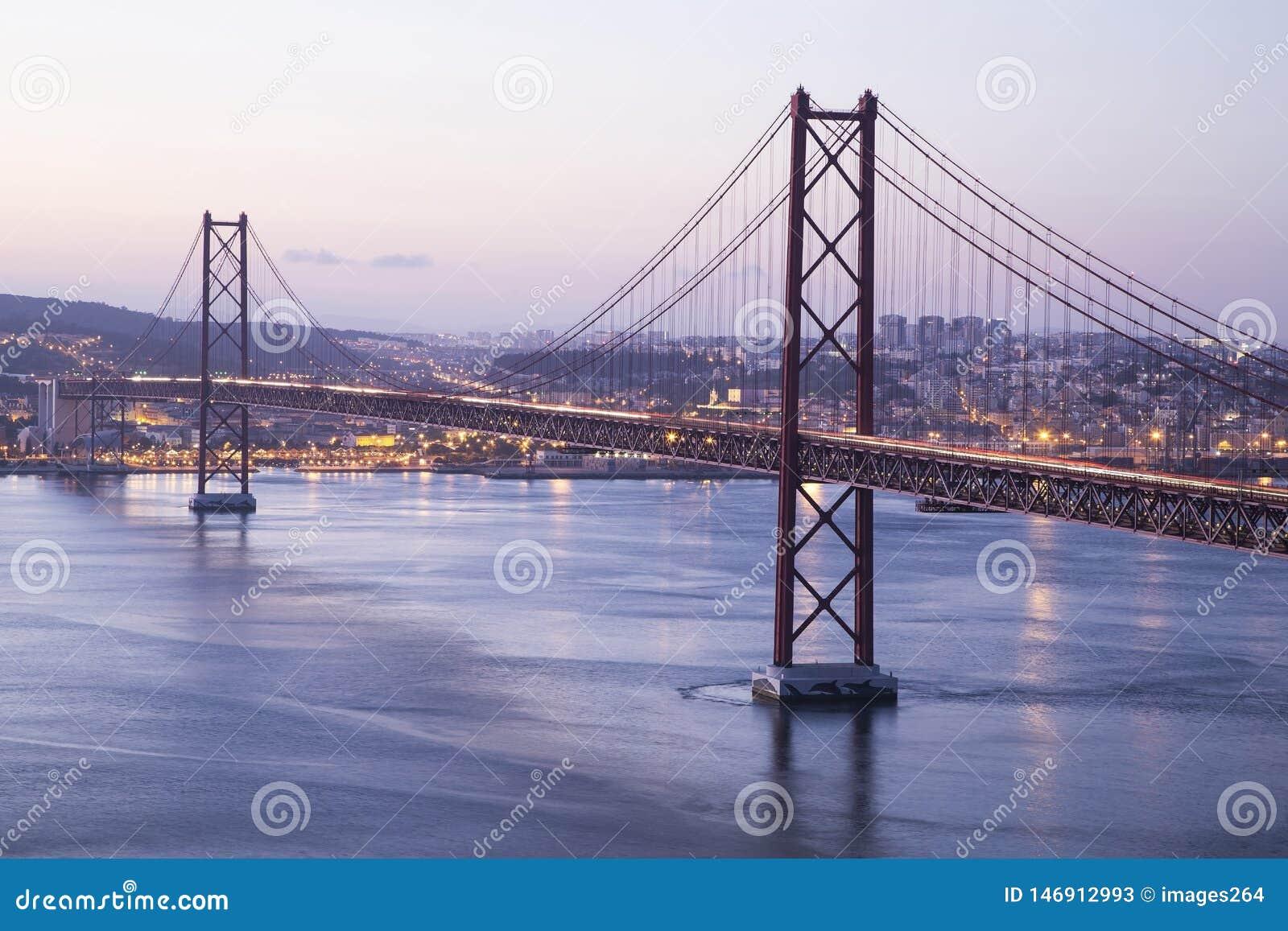 Red bridge in Lisbon