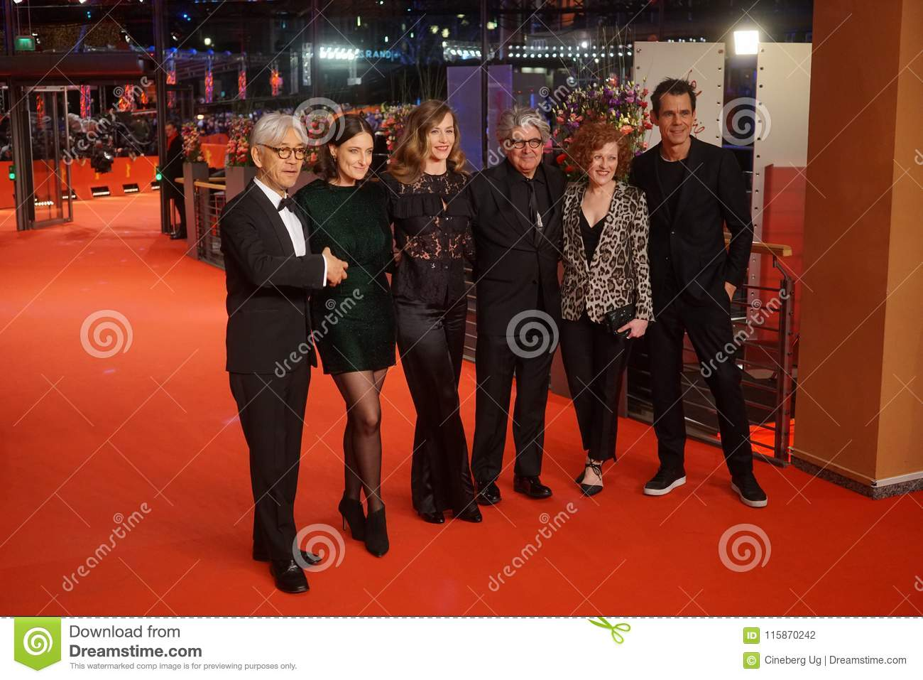 The 68th Berlinale jury members during the closing ceremony