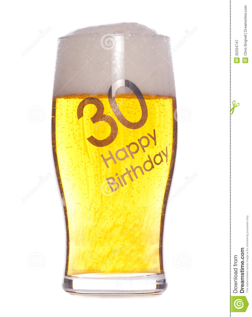 30th Birthday Beer Royalty Free Stock Photography - Image: 35334747