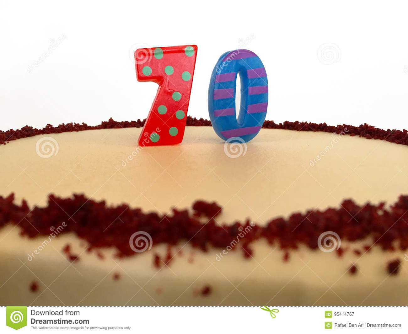 70th birthday cake stock image image of candle food 95414767
